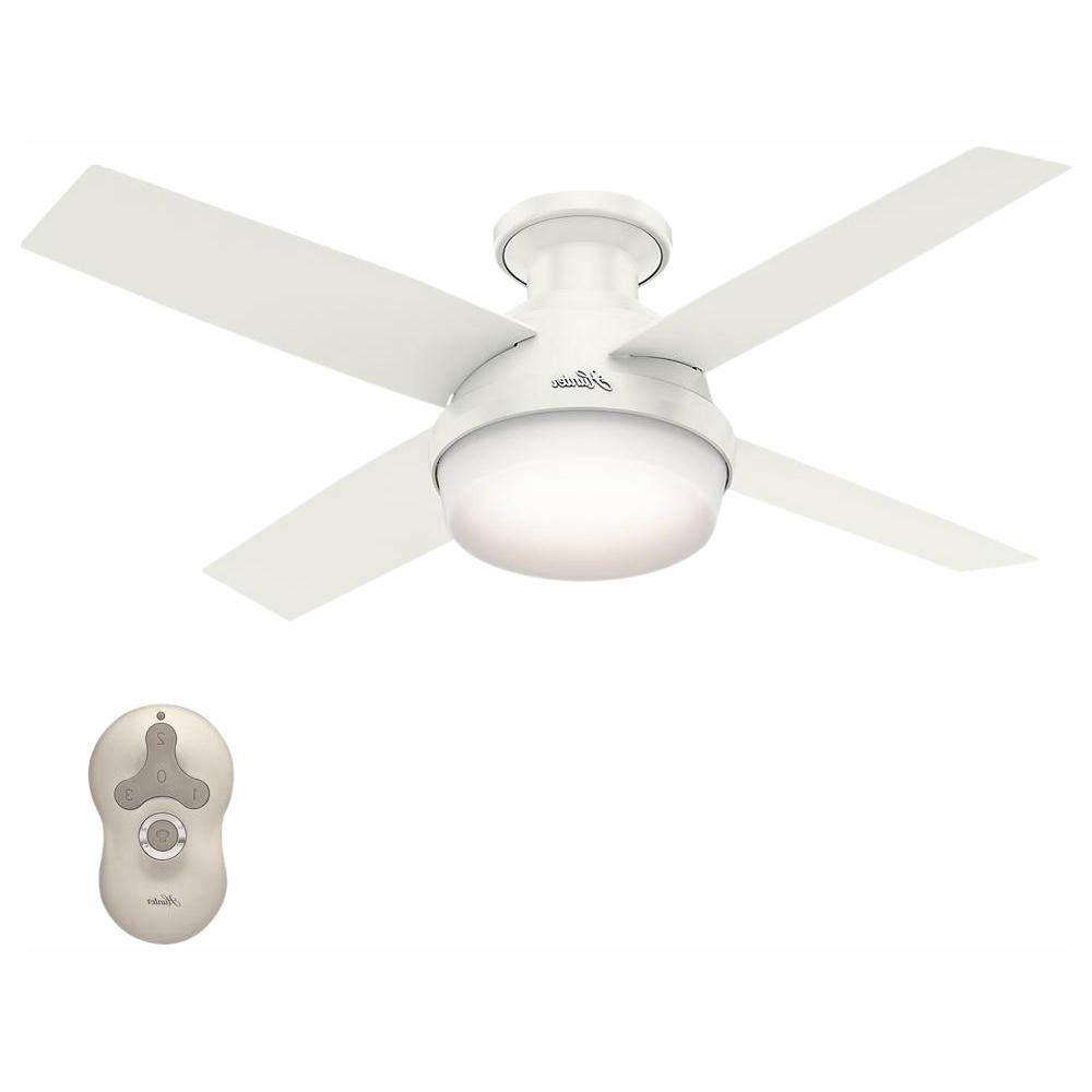 Quebec 5 Blade Ceiling Fans Regarding Fashionable Hunter Dempsey 44 In (View 16 of 20)
