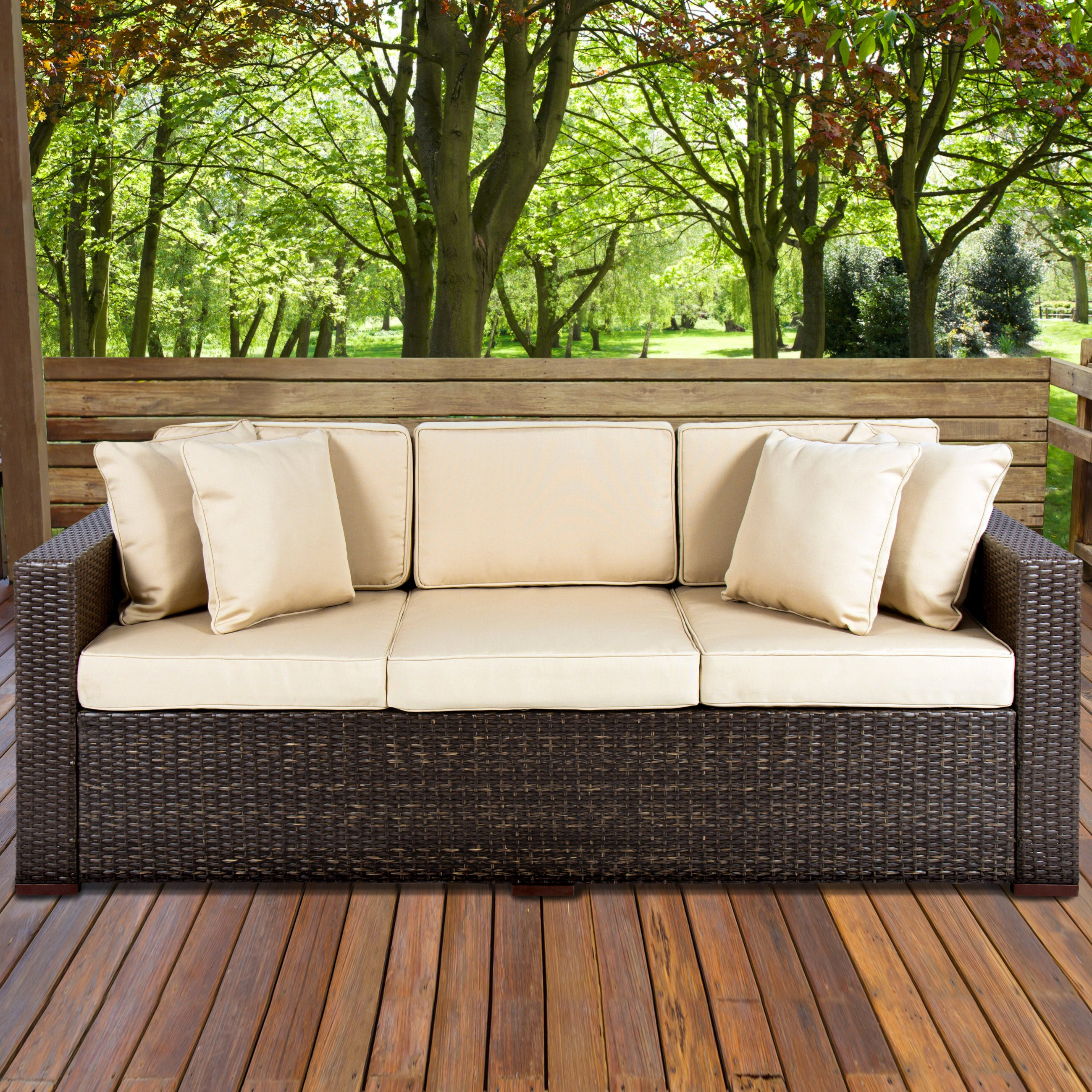 Rakuten Within Michal Patio Sofas With Cushions (View 8 of 20)