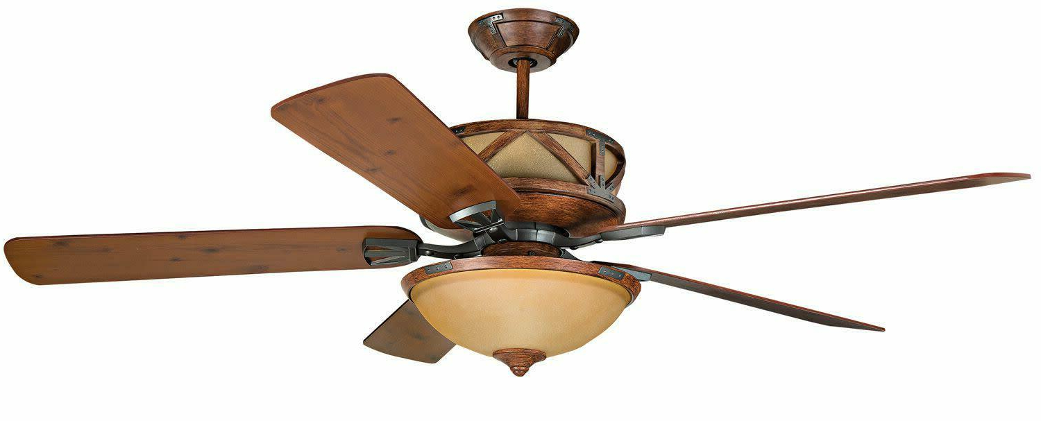 "Raptor 5 Blade Ceiling Fans With Regard To Trendy Craftmade Deer Lodge Classic 60"" 5 Blade Indoor Ceiling Fan – Blades, Light Kit (View 15 of 20)"