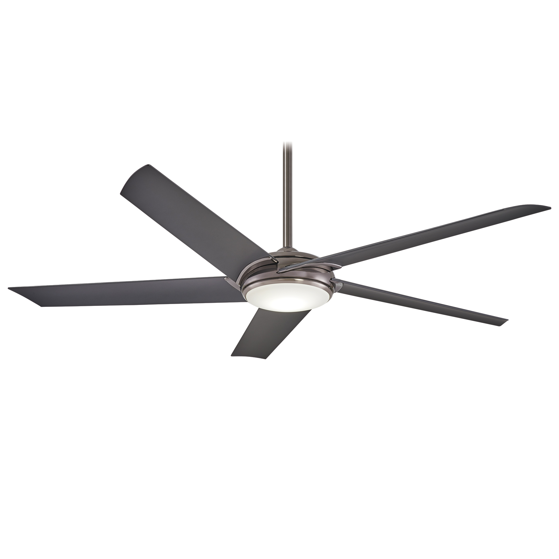 Raptor 5 Blade Ceiling Fans Within Famous Minka Group® :: Brands :: Minka Aire® :: F617l Gm (View 7 of 20)