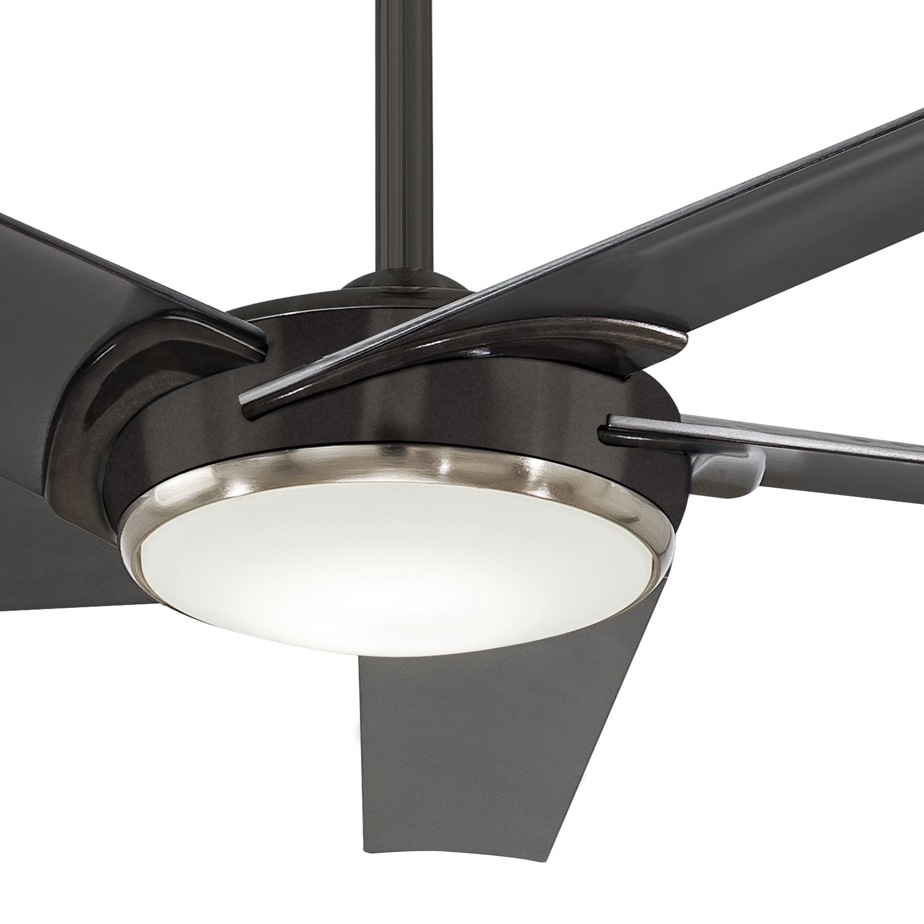 Raptor 60 Inch Ceiling Fan With Led In Gun Metal Finish W/gun Metal Blades With Recent Raptor 5 Blade Ceiling Fans (View 6 of 20)