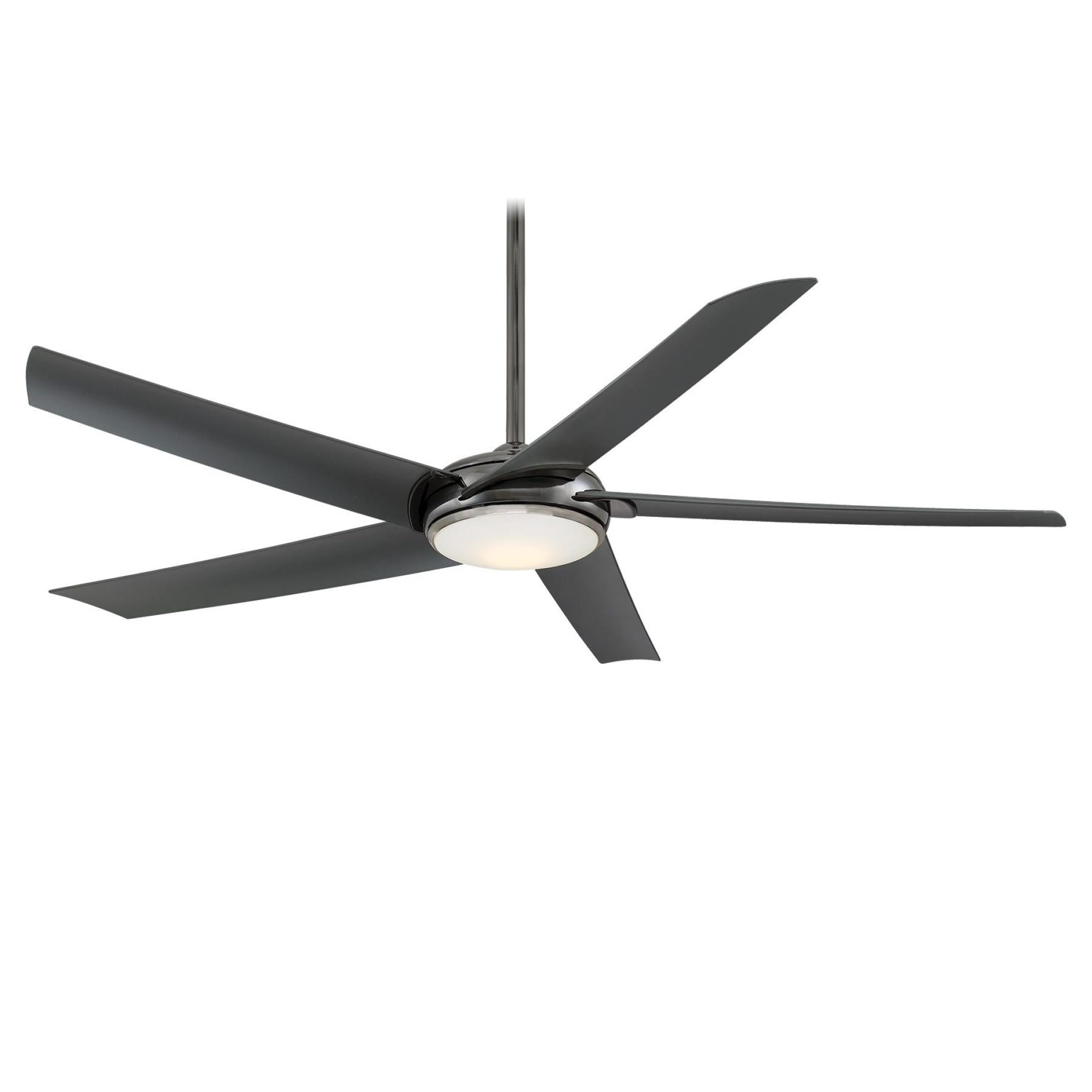 Raptor Gun Metal Ceiling Fan W/ Gun Metal Blades Regarding Widely Used Raptor 5 Blade Ceiling Fans (View 8 of 20)
