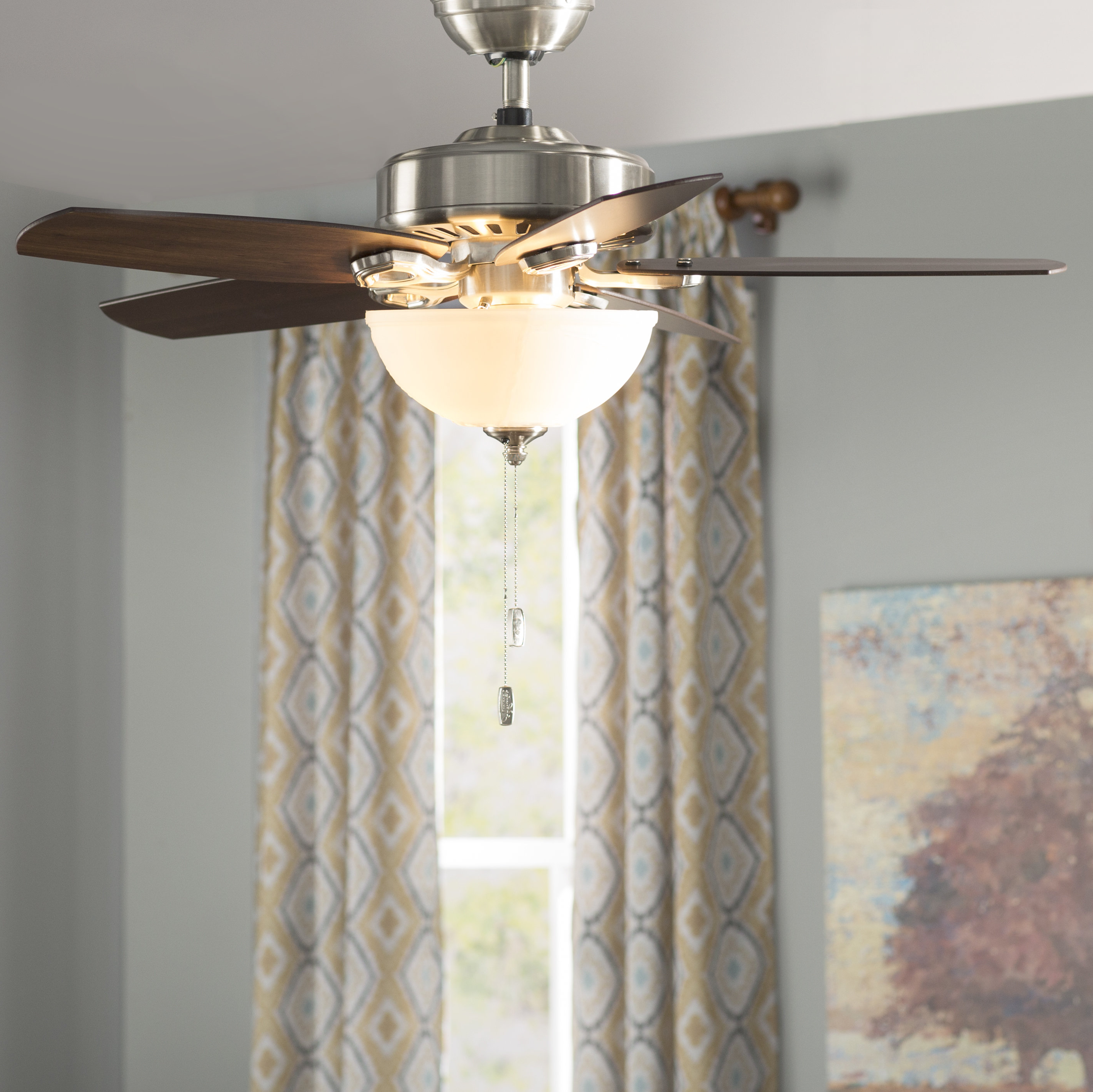 "Recent 42"" Builder 5 Blade Ceiling Fan, Light Kit Included In The Kensington 5 Blade Ceiling Fans (Gallery 20 of 20)"