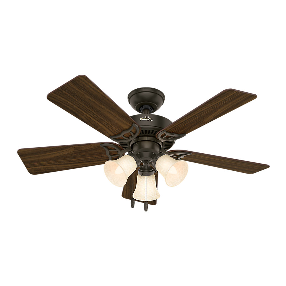 "Recent 44"" Teresa Ceiling 5 Blade Ceiling Fan, Light Kit Included For Hatherton 5 Blade Ceiling Fans (View 5 of 20)"