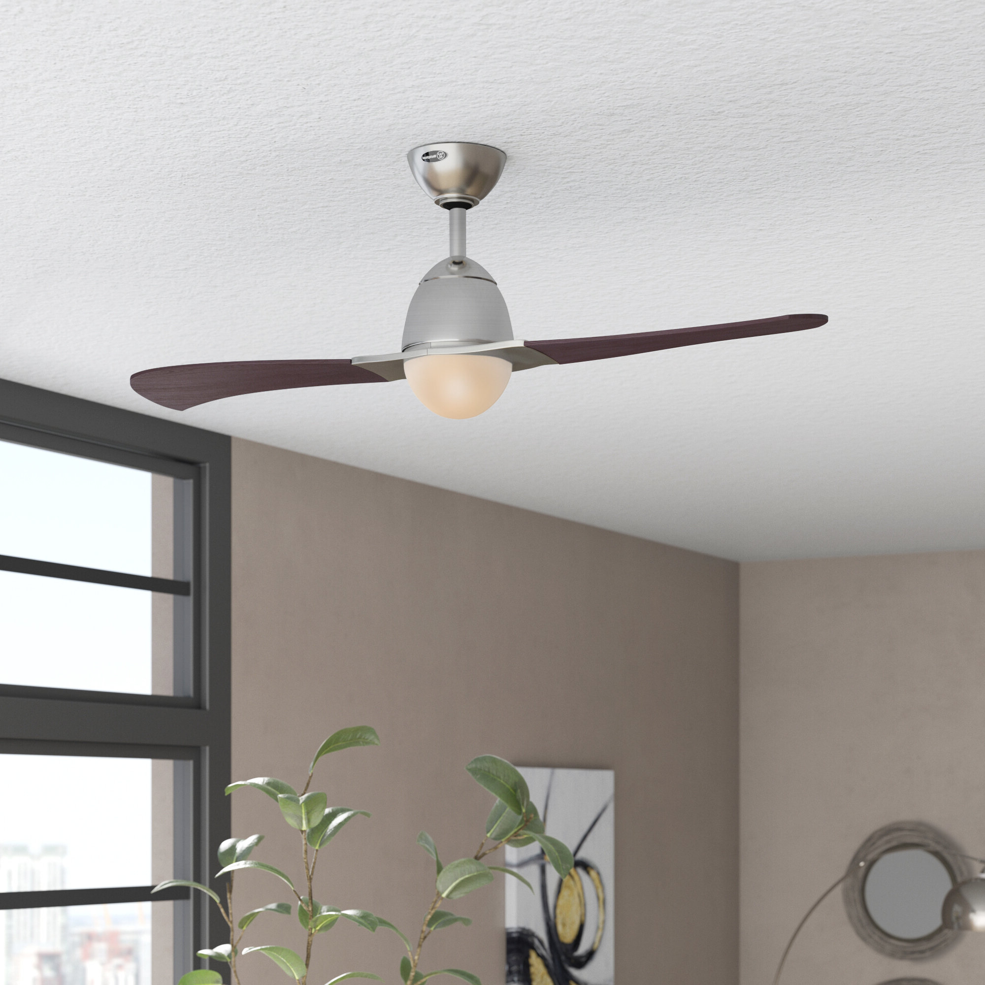 "Recent 48"" Amezquita 2 Blade Led Ceiling Fan With Remote Light Kit Included Throughout Concept Ii 3 Blade Led Ceiling Fans With Remote (Gallery 13 of 20)"