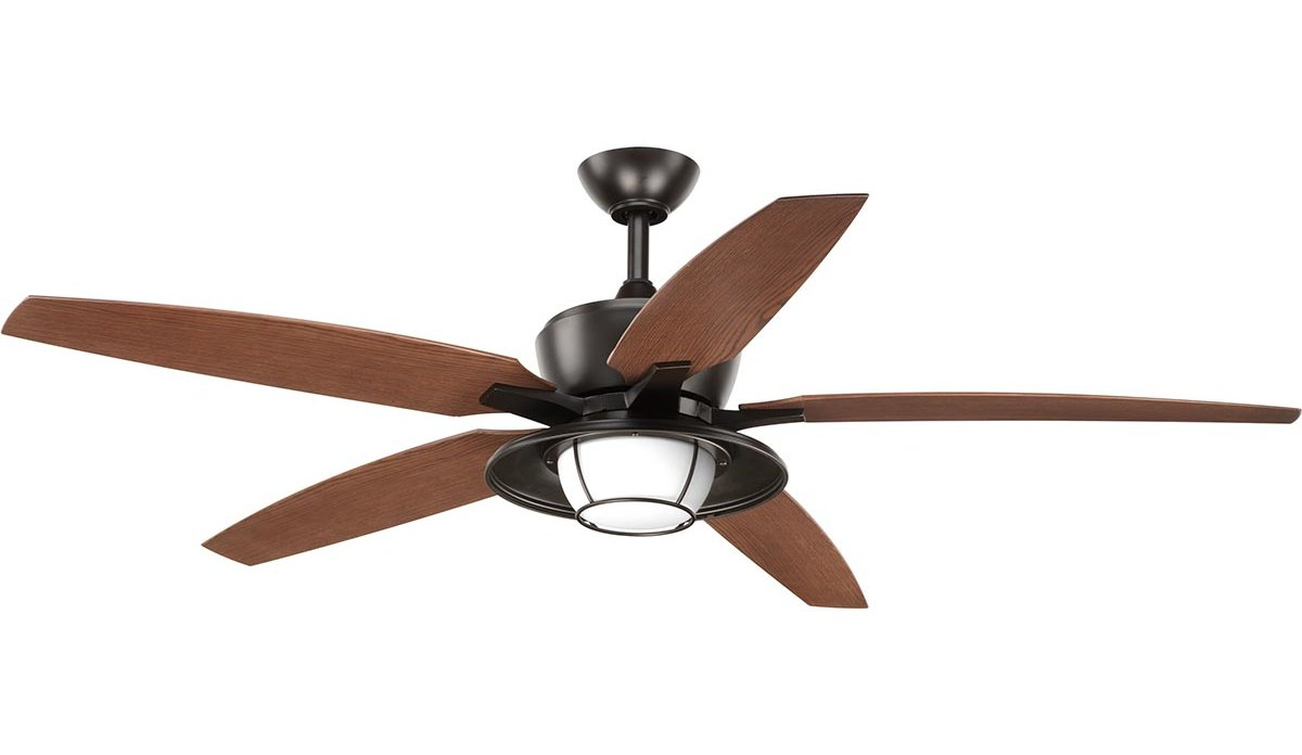 Recent Bennett 5 Blade Led Ceiling Fans With Remote Intended For Milmont 5 Blade Outdoor Led Ceiling Fan With Remote (View 7 of 20)
