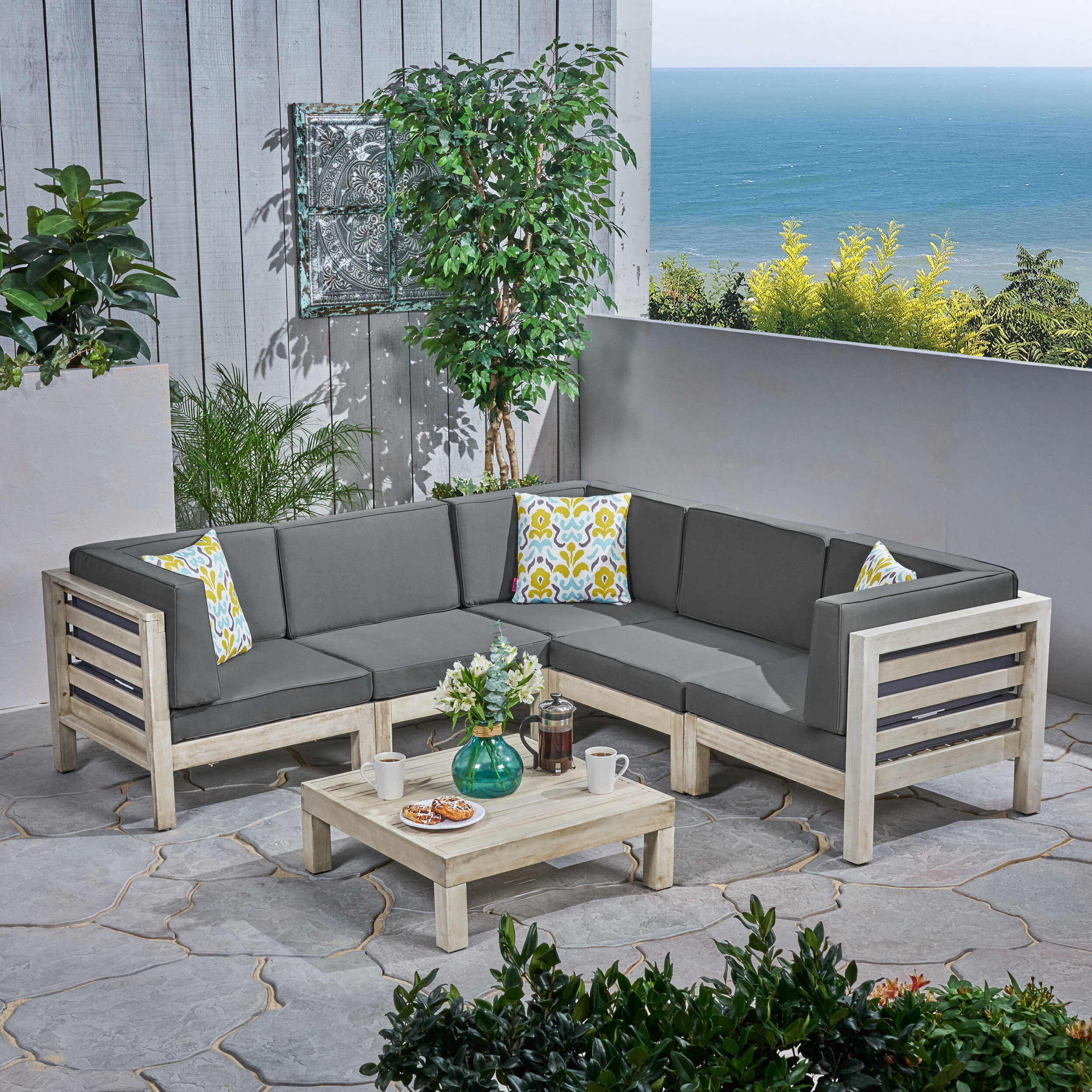 Recent Brayden Studio Seaham 6 Piece Sectional Seating Group With For Seaham Patio Sectionals With Cushions (View 10 of 20)