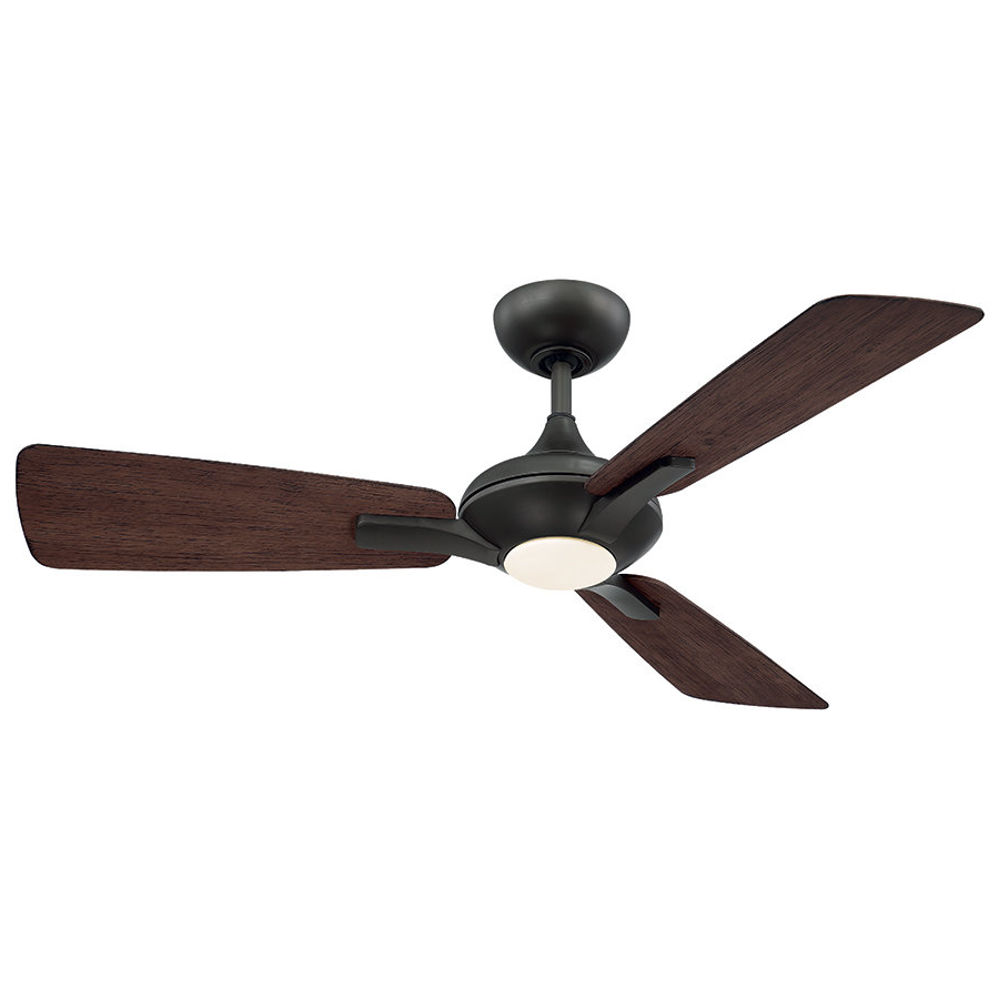 "Recent Cassius 3 Blade Outdoor Ceiling Fans Inside 52"" Mykonos 3 Blade Outdoor Led Ceiling Fan (Gallery 6 of 20)"