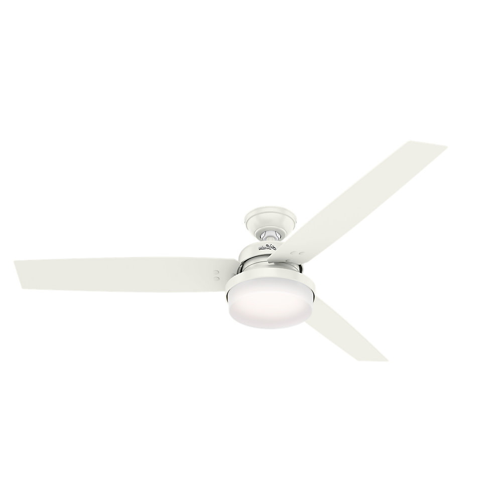 """Recent Details About Hunter Sentinel 60 Sentinel 60"""" 3 Blade Integrated Led  Ceiling Fan With Remote With Regard To Sentinel 3 Blade Led Ceiling Fans With Remote (View 12 of 20)"""