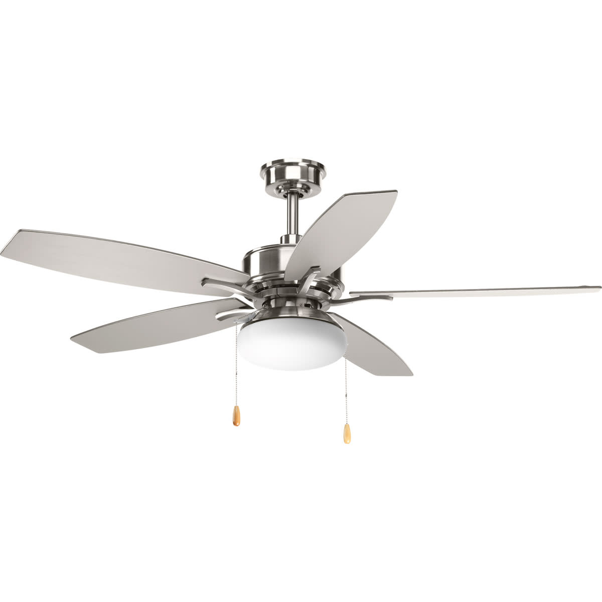 """Recent Details About Progress Lighting Billows 52 Billows 52"""" 5 Blade Integrated  Led Ceiling Fan Regarding Dyno 5 Blade Ceiling Fans (View 17 of 20)"""