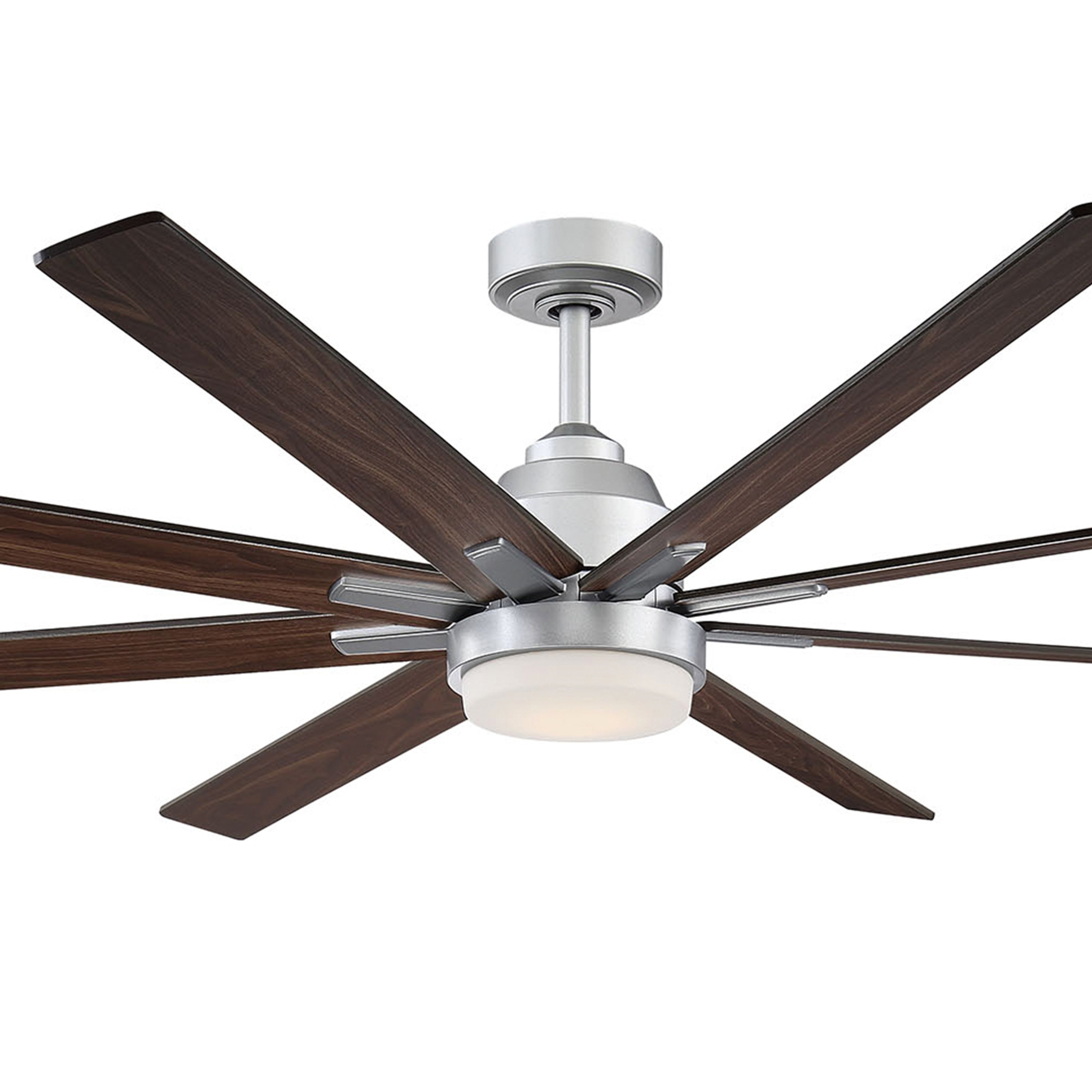 Recent Fifth And Main Westport Led Satin Silver Ceiling Fan With Regard To Levon 8 Blade Ceiling Fans (View 7 of 20)