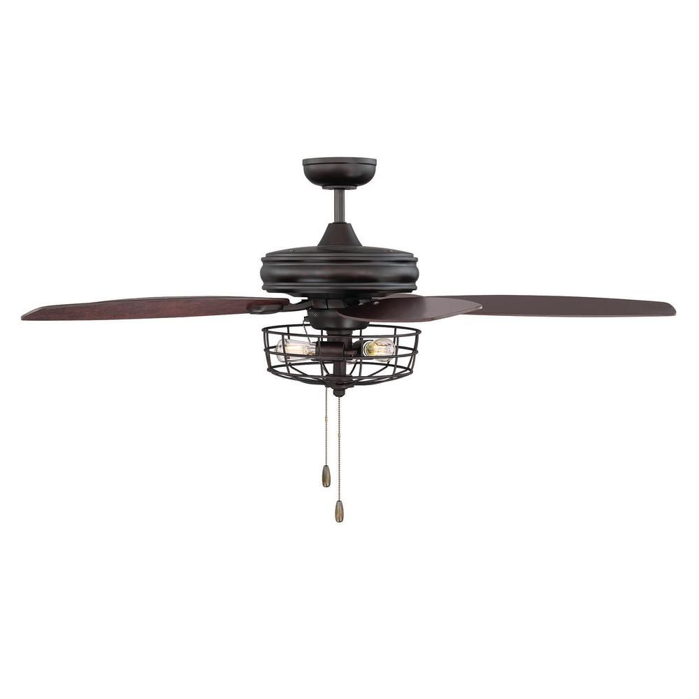 Recent Filament Design 52 In. Oil Rubbed Bronze Ceiling Fan With Regarding Mccarthy 5 Blade Ceiling Fans (Gallery 14 of 20)