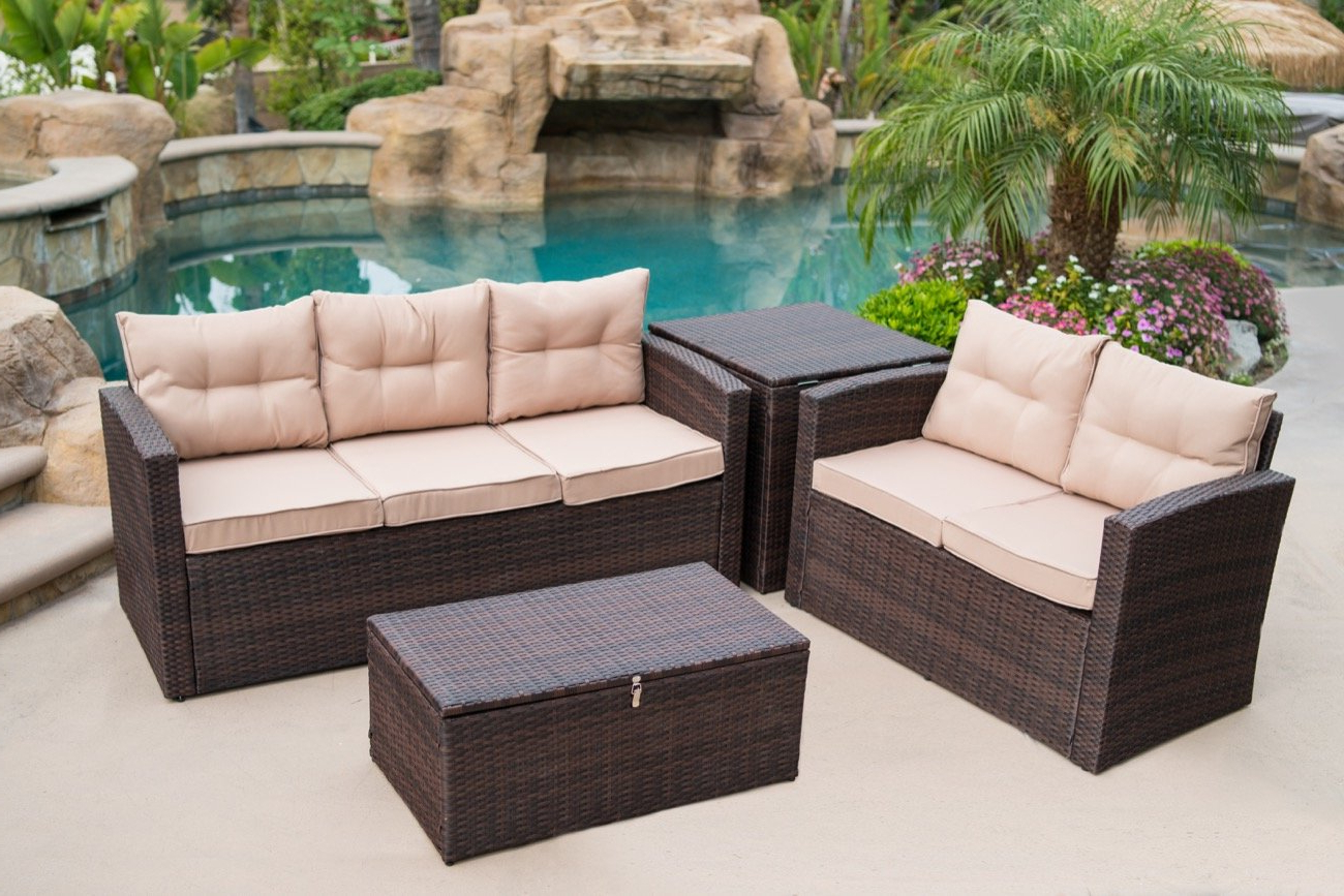 Recent Fleur De Lis Living Rowley Patio Sofa Set With Cushions Regarding Rowley Patio Sofas Set With Cushions (Gallery 2 of 20)