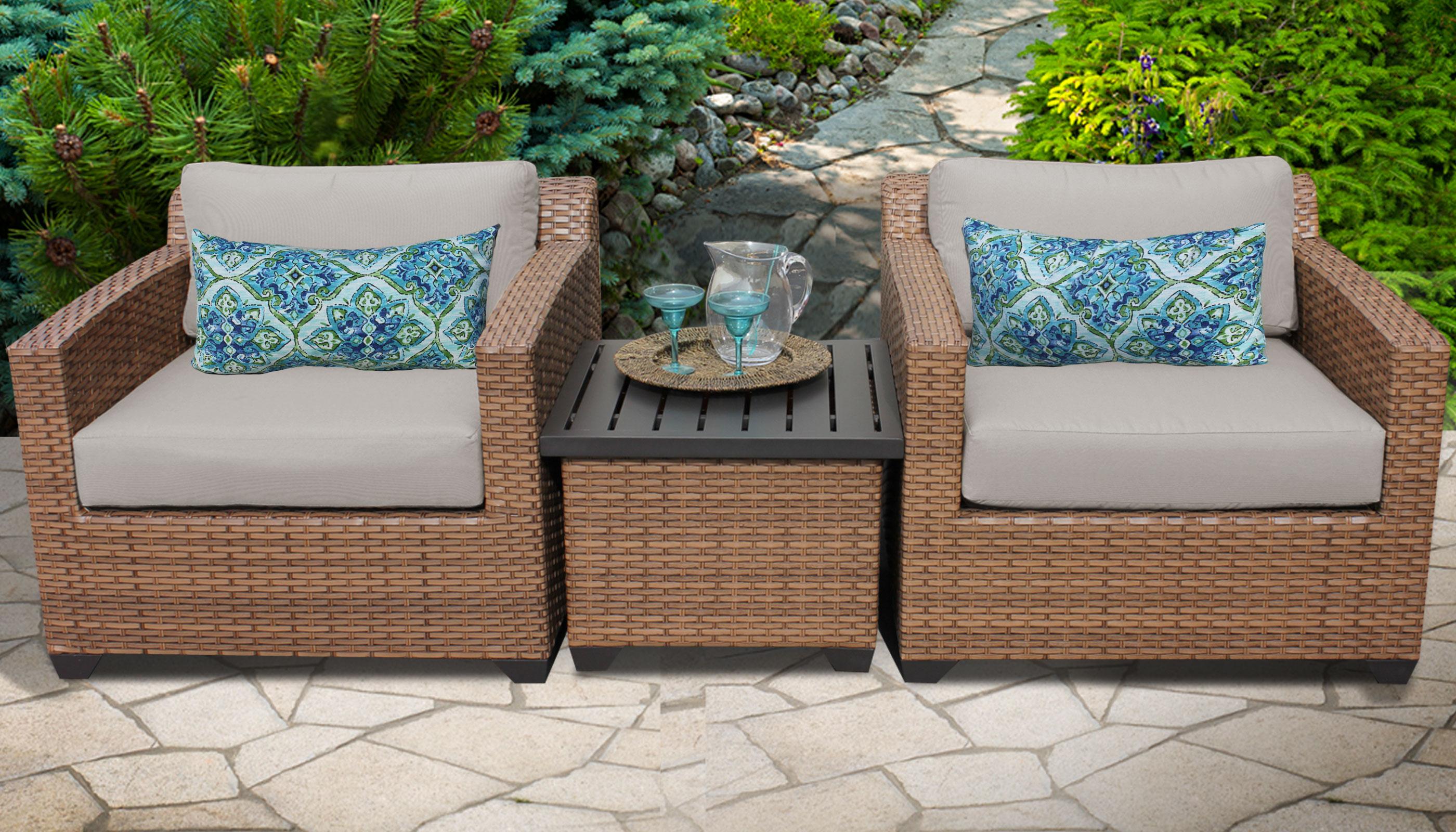 Recent Laguna Outdoor Sofas With Cushions Regarding Laguna 3 Piece Outdoor Wicker Patio Furniture Set 03A (View 16 of 20)