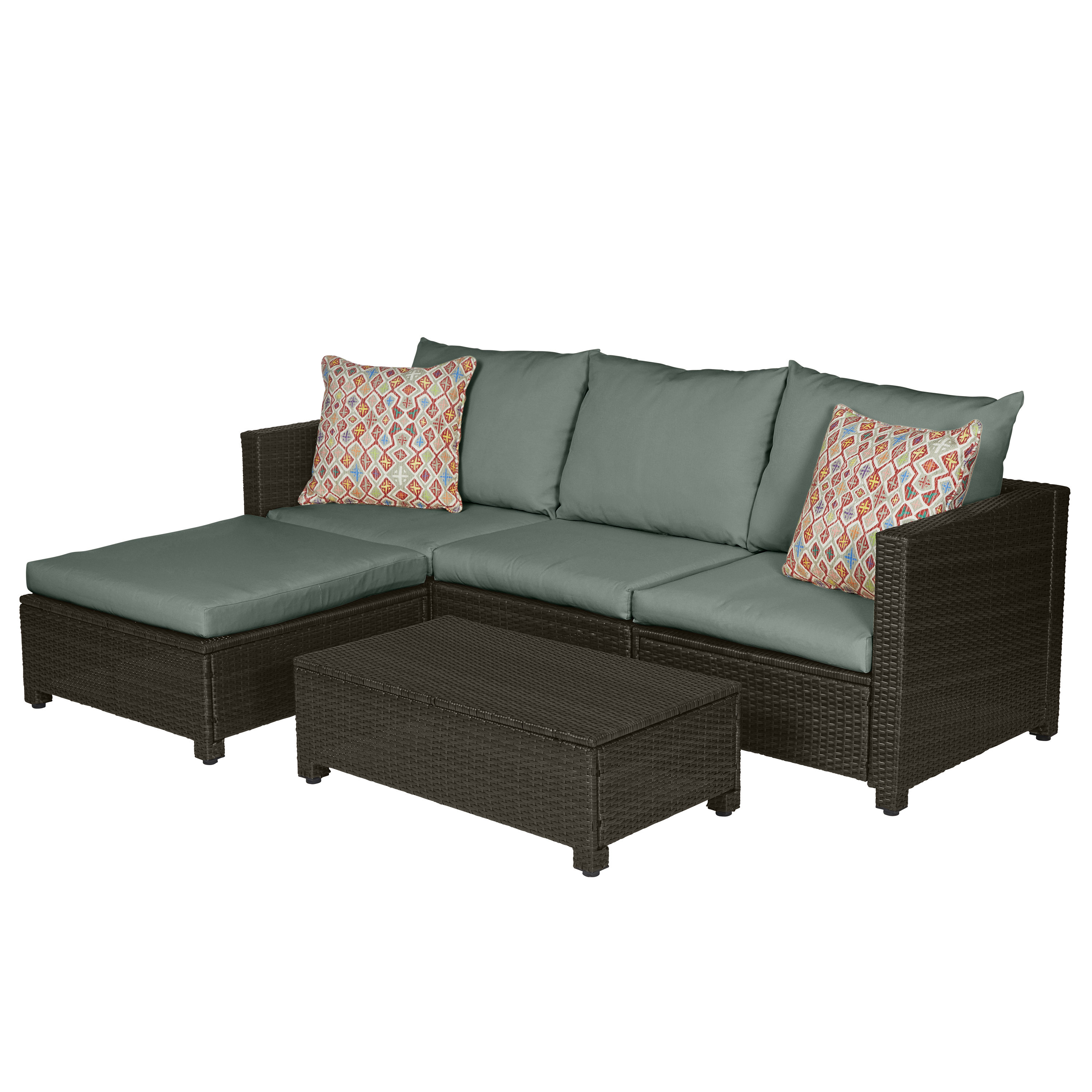 Recent Larsen Patio Sectionals With Cushions For Larsen 5 Piece Sectional Seating Group With Cushions (View 17 of 20)