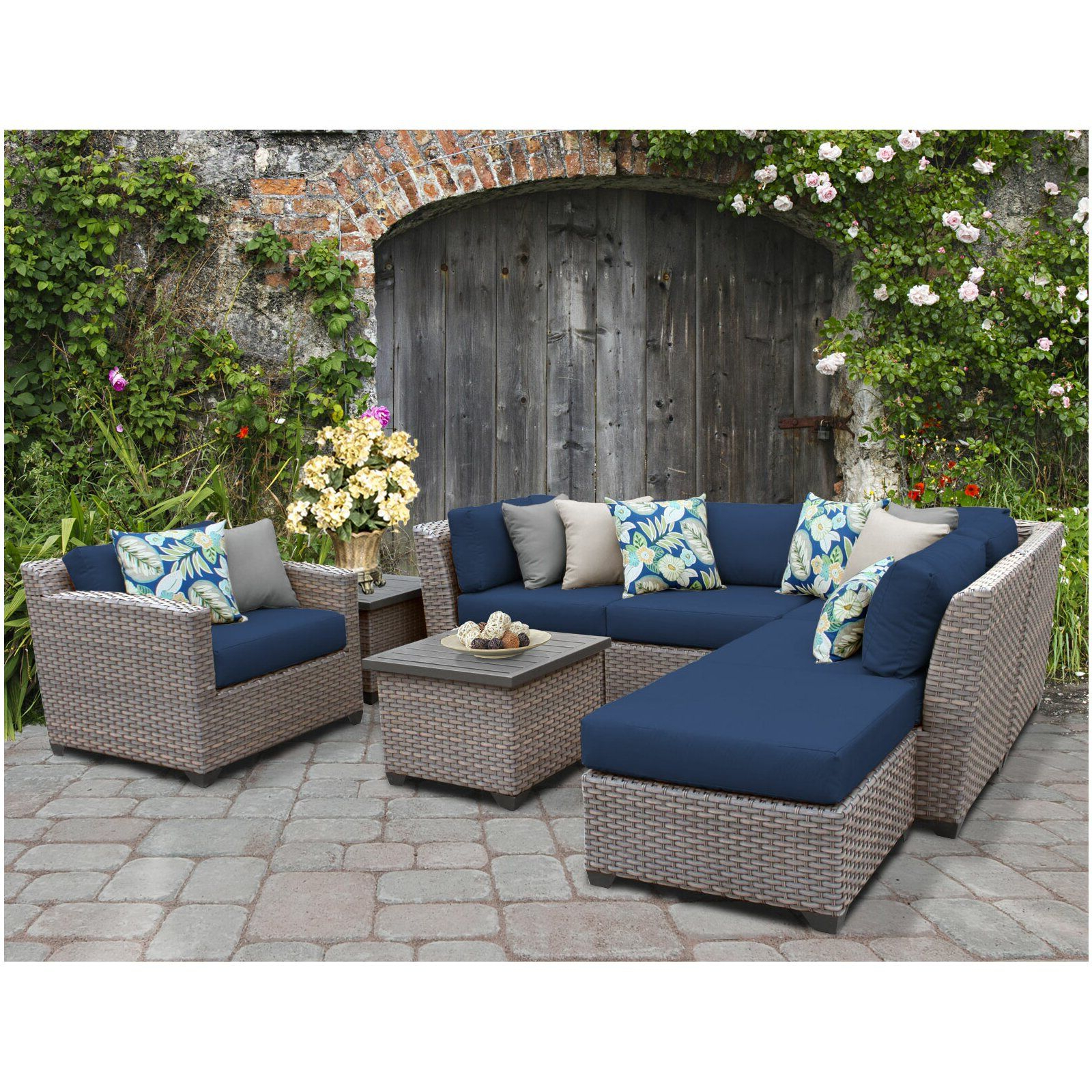 Recent Meeks 8 Piece Sectional Seating Group With Cushions In 2019 With Meeks Patio Sofas With Cushions (View 4 of 20)