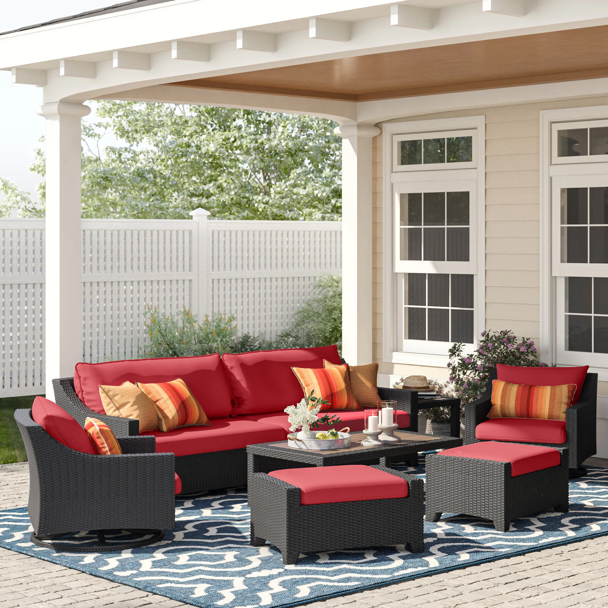 Recent Northridge 8 Piece Sofa Set With Cushions With Regard To Northridge Patio Sofas With Sunbrella Cushions (View 18 of 20)