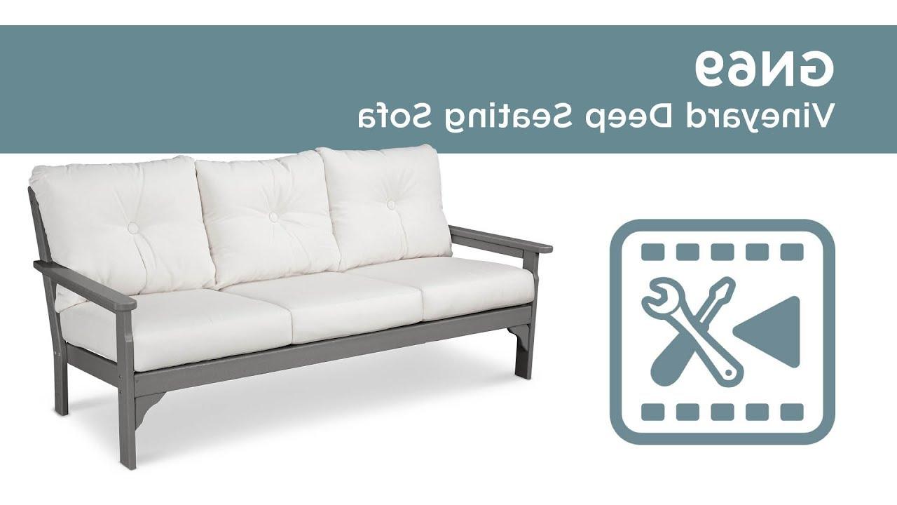 Recent Polywood® Gn69 – Vineyard Deep Seating Sofa Assembly Video In Vineyard Deep Seating Sofas (View 12 of 20)