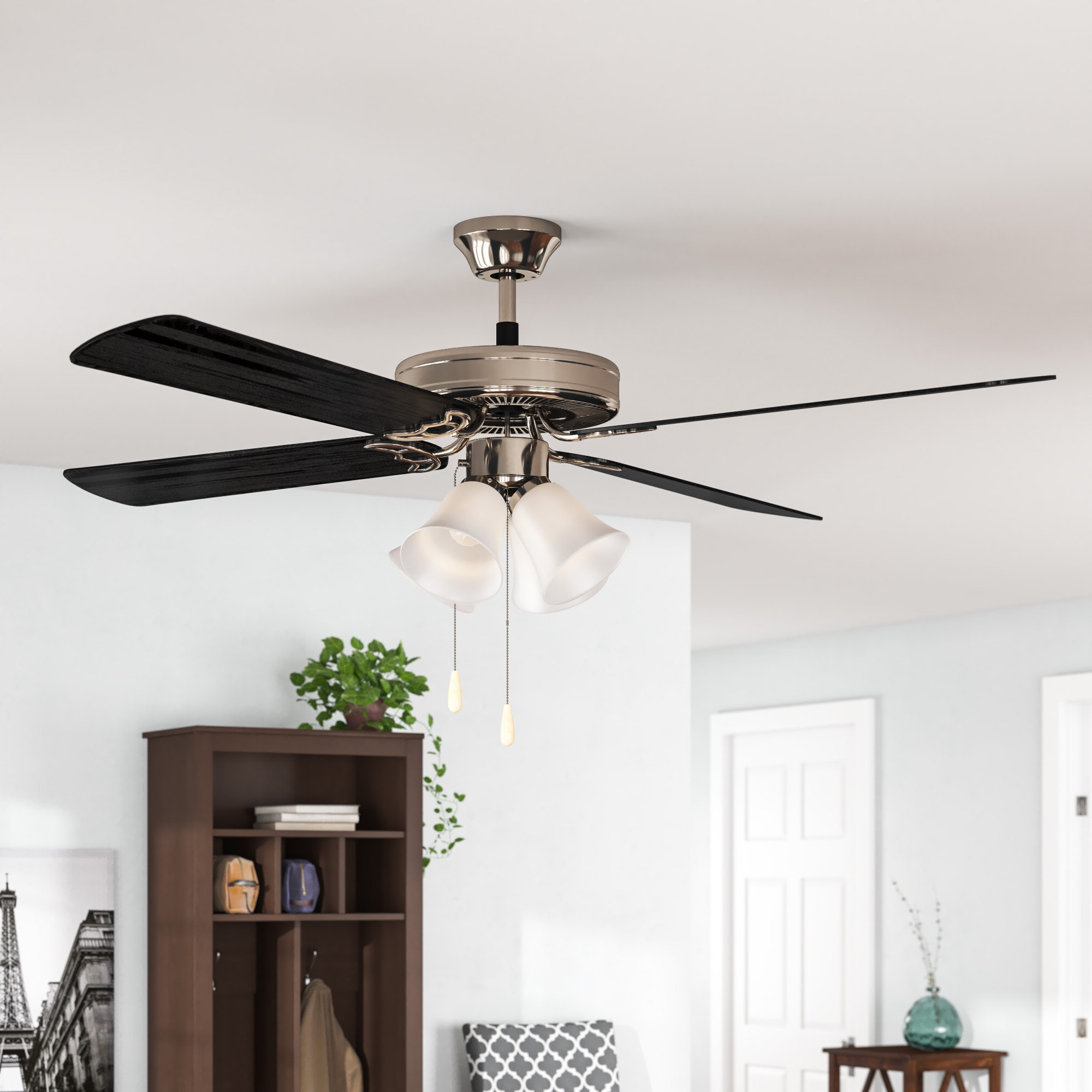 """Recent Southern Breeze 5 Blade Ceiling Fans Intended For 52"""" Cedar Drive 5 Blade Ceiling Fan, Light Kit Included (View 11 of 20)"""