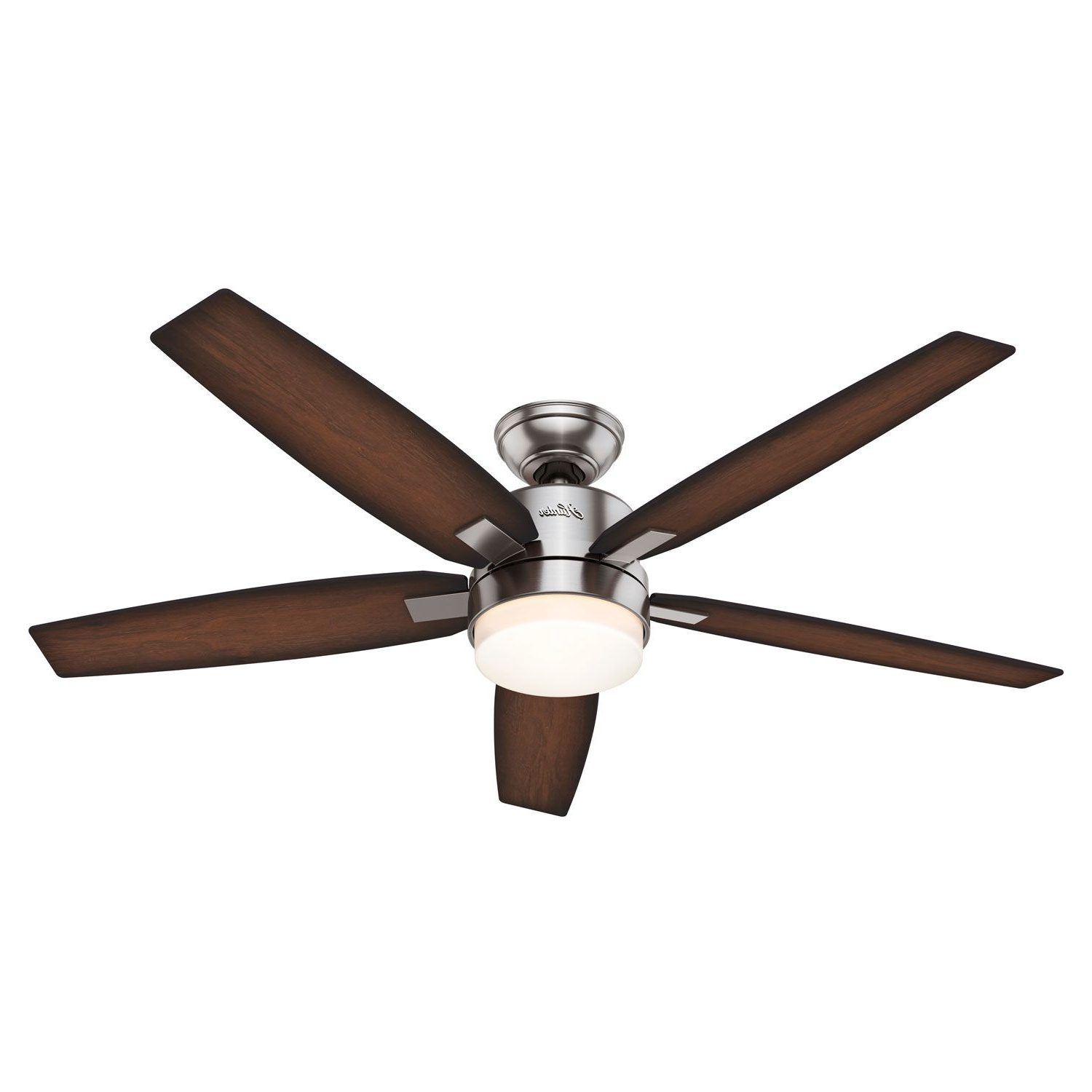 Recent Windemere 5 Blade Ceiling Fans With Remote Inside Hunter Fans Windemere Brushed Nickel Two Light 54 Inch (View 1 of 20)
