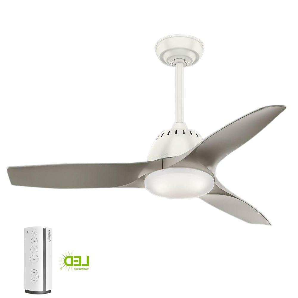 Recent Wisp 3 Blade Led Ceiling Fans Regarding Casablanca Wisp 44 In (View 13 of 20)