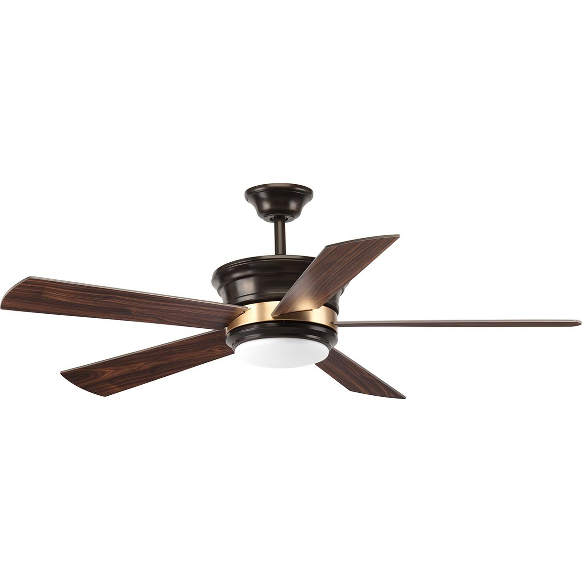 "Red Barrel Studio 54"" Seaton 5 Blade Led Ceiling Fan With Remote Regarding Preferred Bernabe 3 Blade Ceiling Fans (View 17 of 20)"