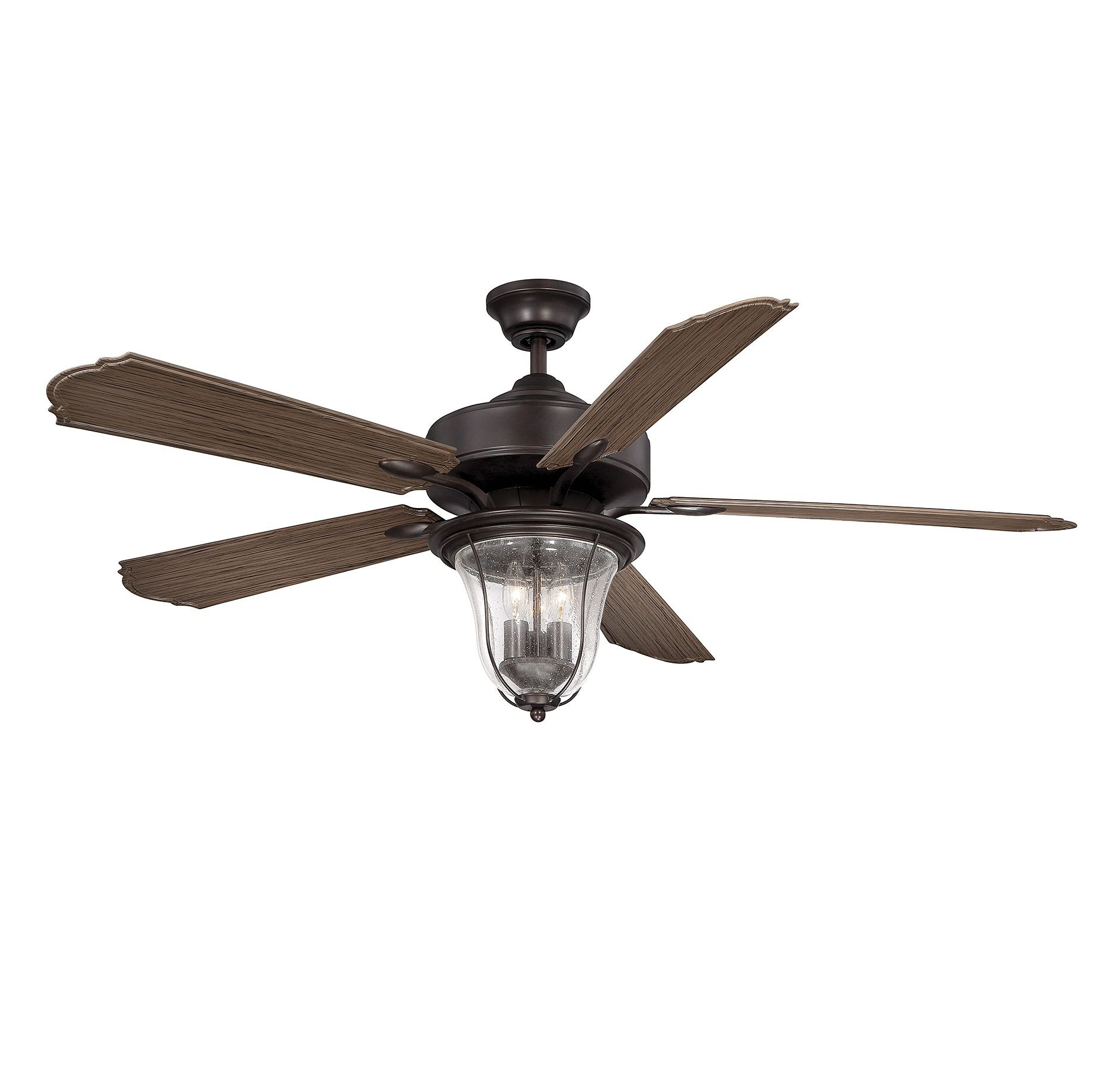 "Roberts 5 Blade Ceiling Fans In Most Popular Savoy House Trudy 52"" Ceiling Fan Bronze With Clear Seeded (View 19 of 20)"