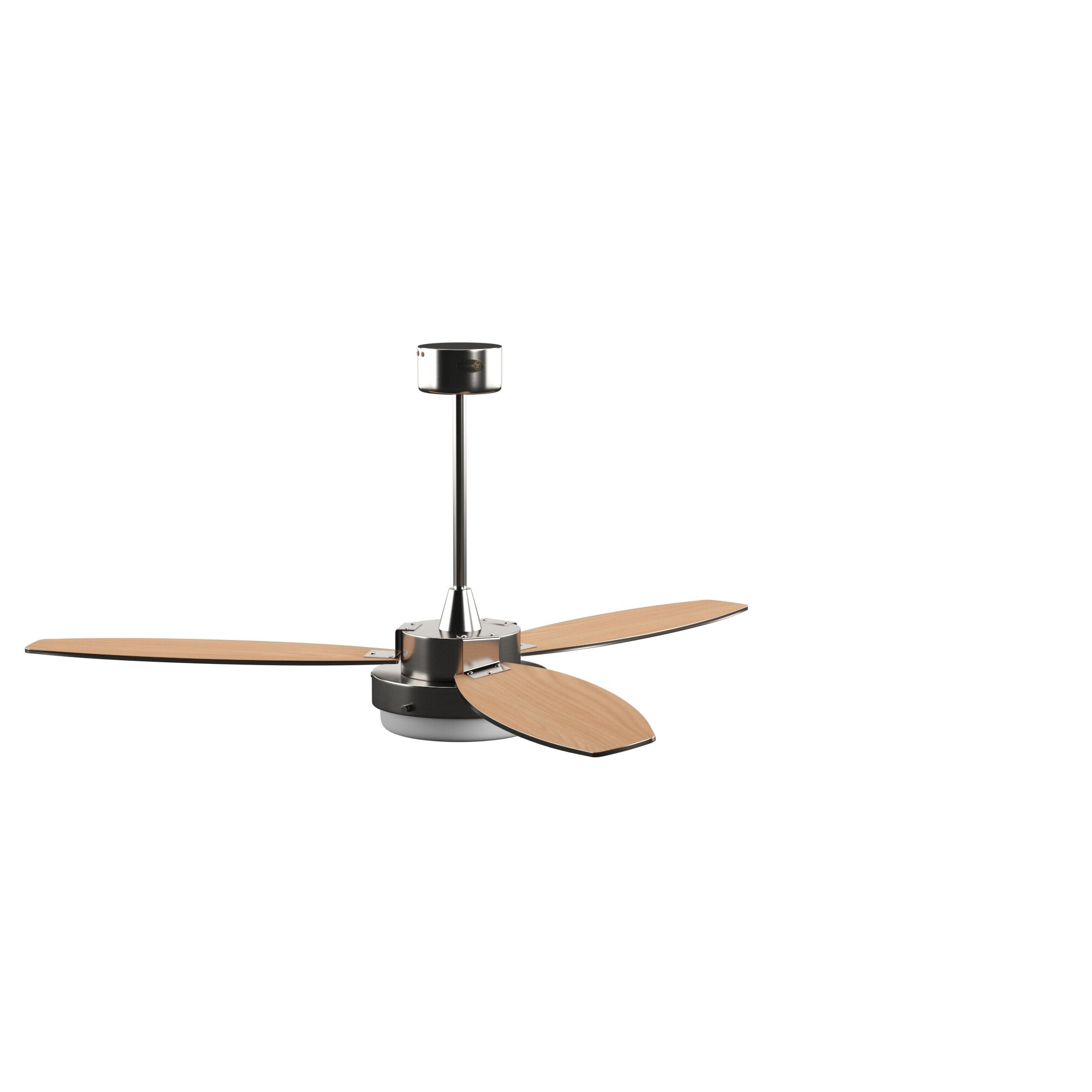 "Roto 3 Blade Ceiling Fans Inside Most Current 52"" Corsa Two Light Reversible Plywood 3 Blade Ceiling Fan, Light Kit Included (View 11 of 20)"