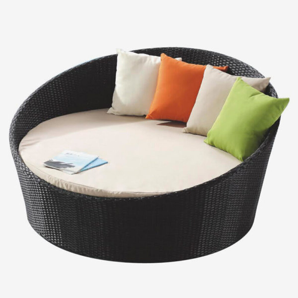 Round Patio Daybed With Sunbrella Cushions With Well Known Greening Outdoor Daybeds With Ottoman & Cushions (View 15 of 20)