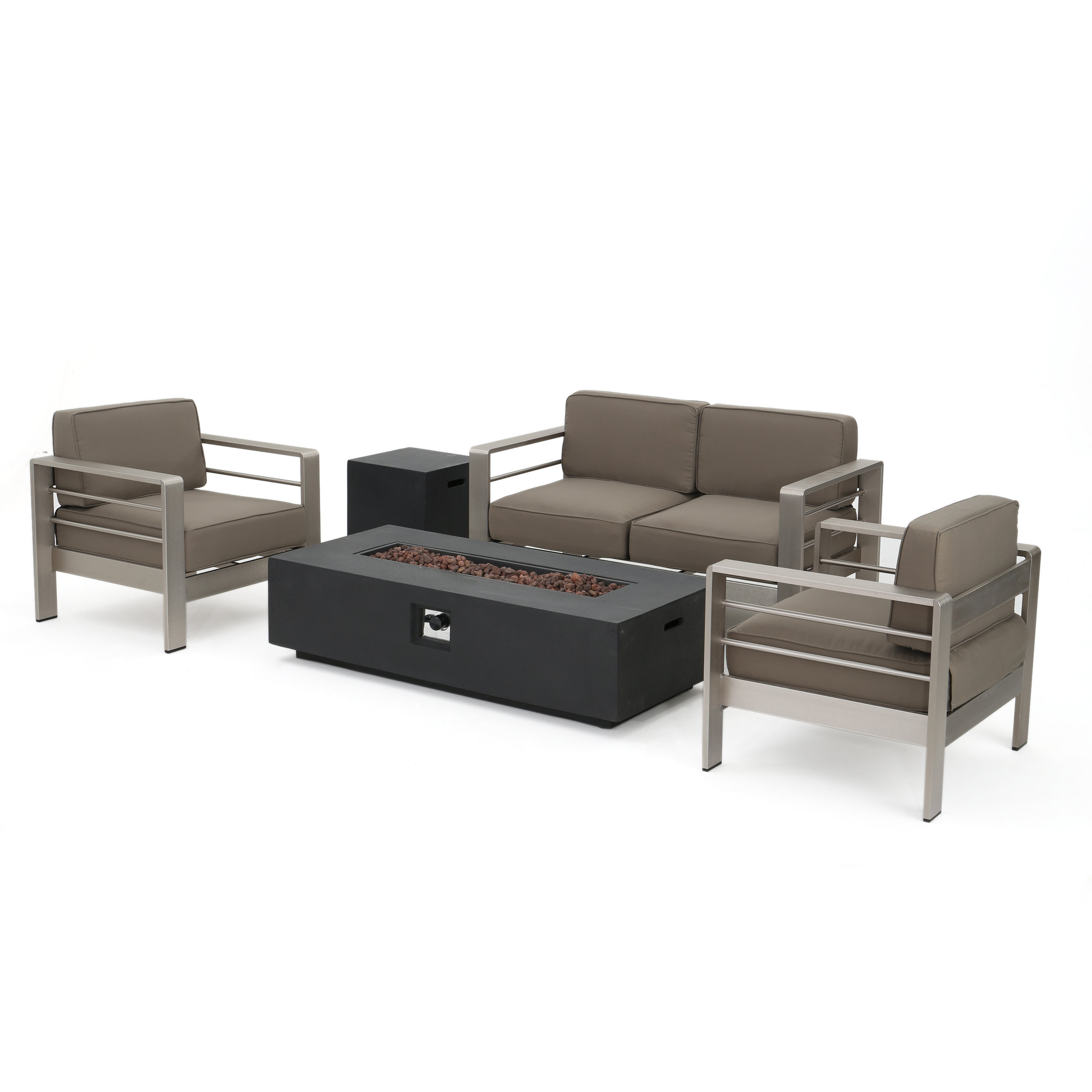 Royalston Patio Sofas With Cushions Inside Preferred Royalston 5 Piece Sofa Set With Cushions (View 17 of 20)