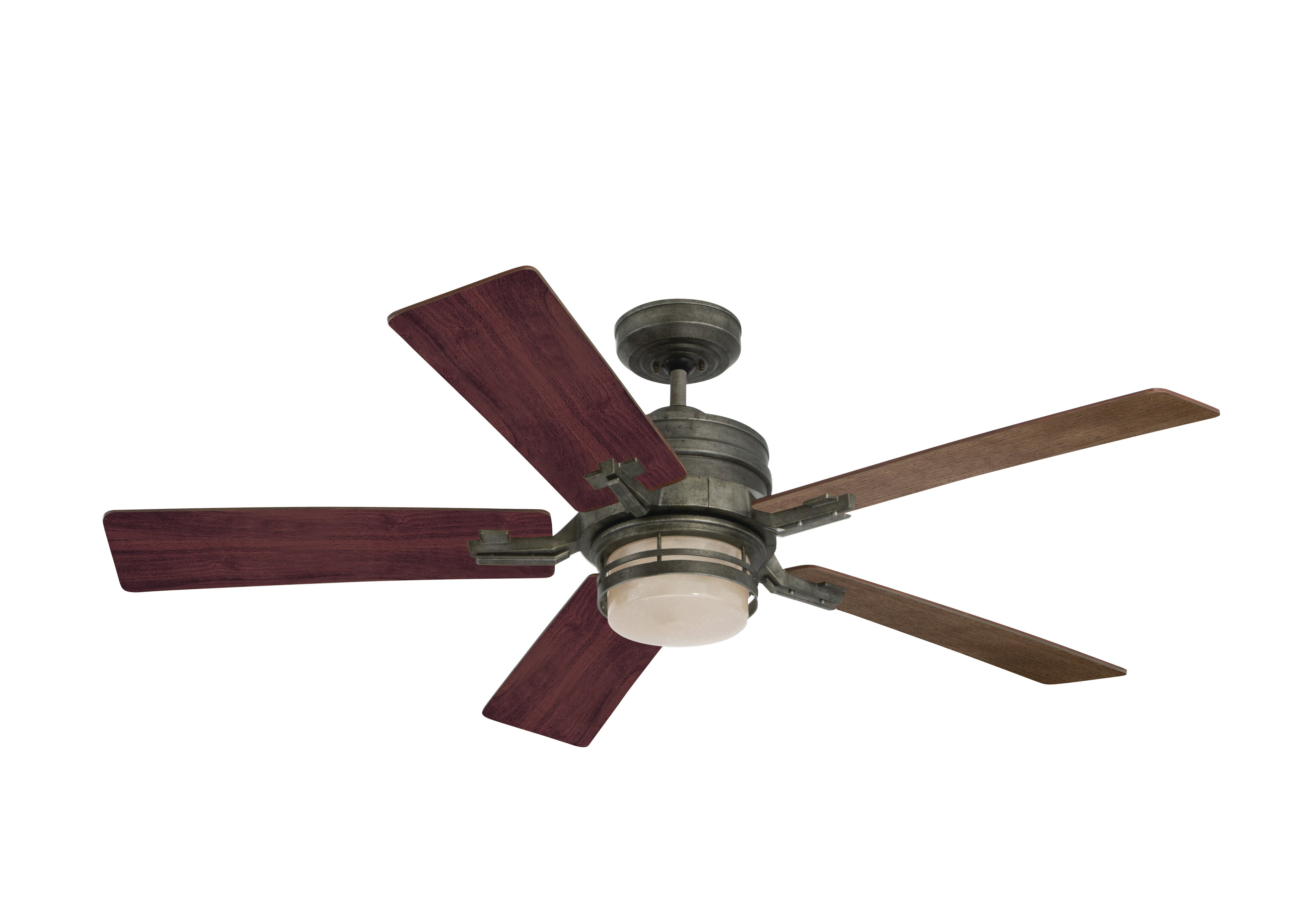 "Saito 6 Blade Ceiling Fans Intended For Current 54"" Issac 5 Blade Led Ceiling Fan (View 16 of 20)"