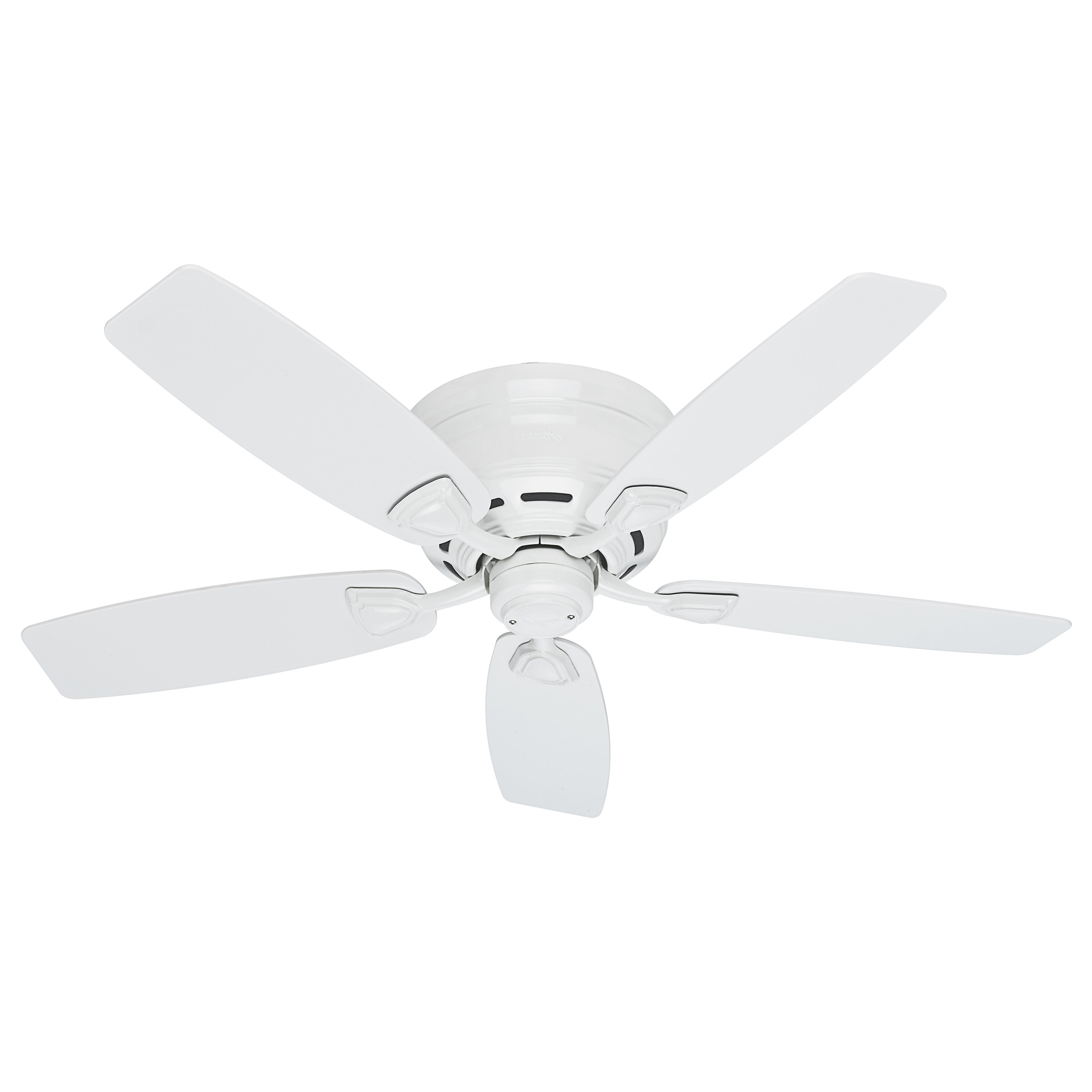 Sea Wind 5 Blade Ceiling Fans With Regard To 2020 Hunter Sea Wind 48 Inch Etl Damp Rated White Ceiling Fan (View 3 of 20)
