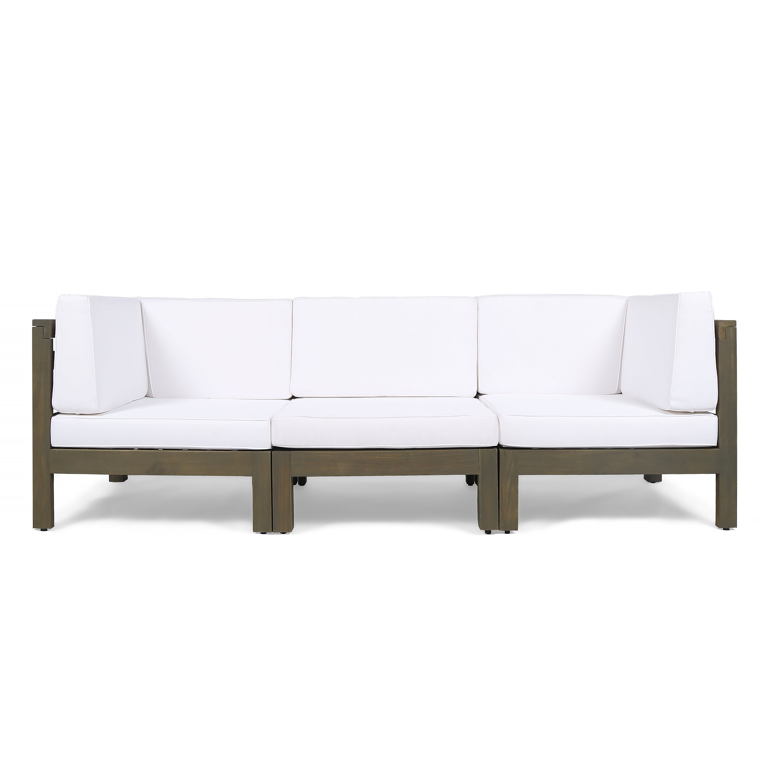 Seaham Teak Patio Sofa With Cushions Regarding Current Seaham Patio Sectionals With Cushions (View 5 of 20)