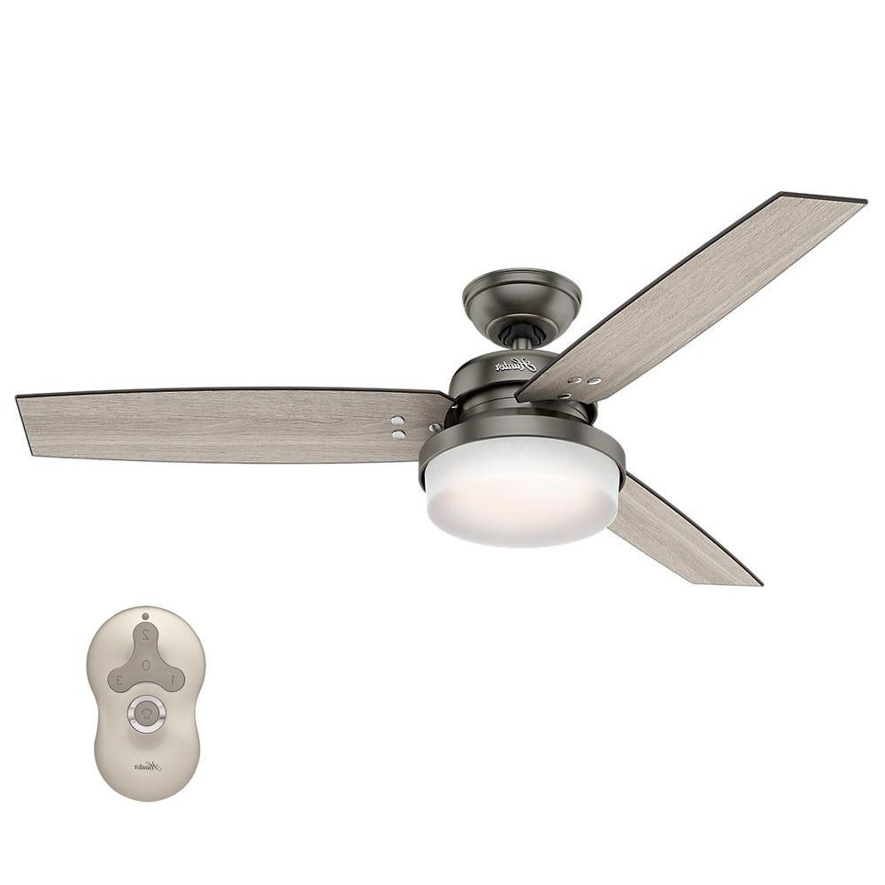 Sentinel 3 Blade Led Ceiling Fans With Remote For Most Current Hunter Sentinel 52 In (View 2 of 20)