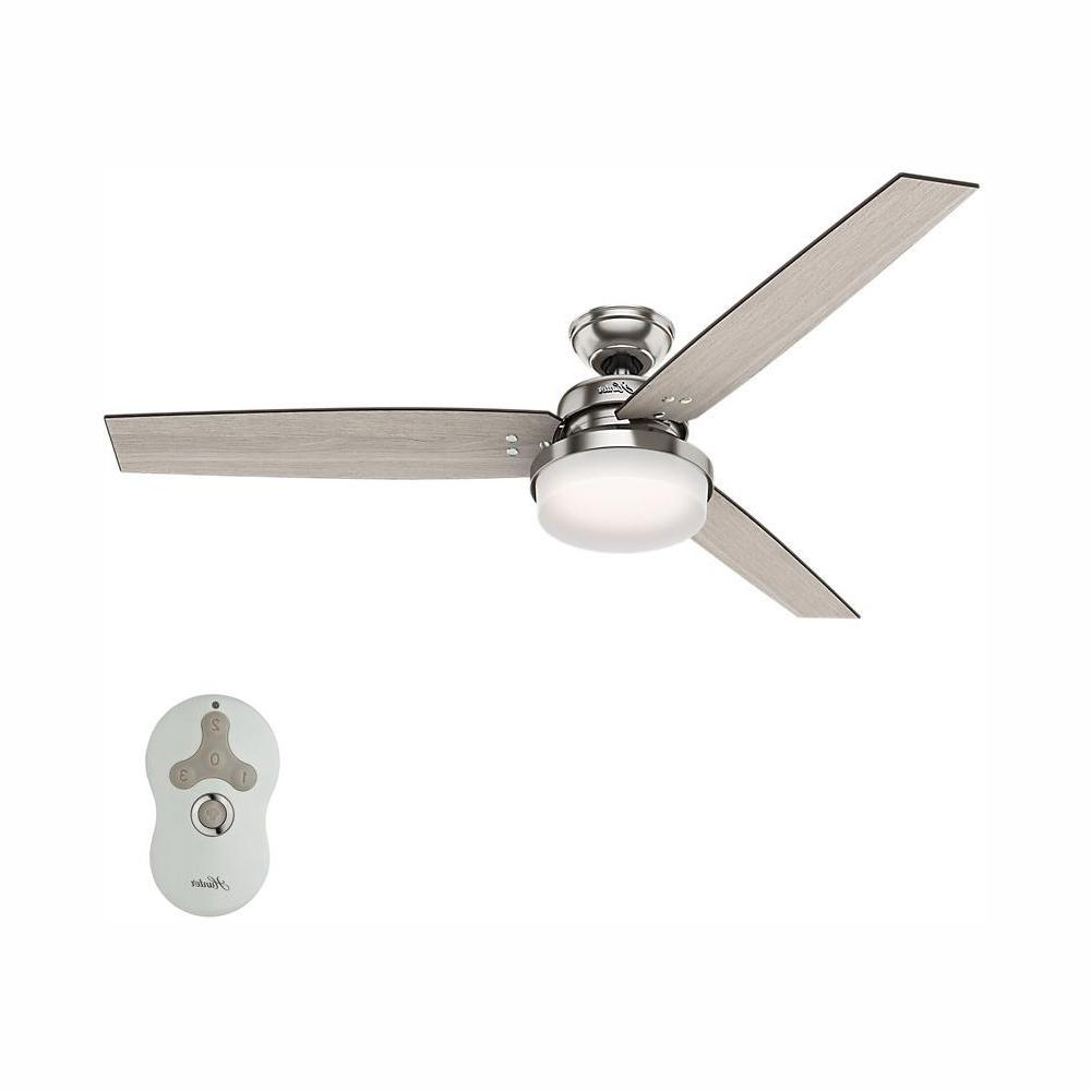 Sentinel 3 Blade Led Ceiling Fans With Remote Regarding Most Recent Hunter Sentinel 60 In (View 10 of 20)