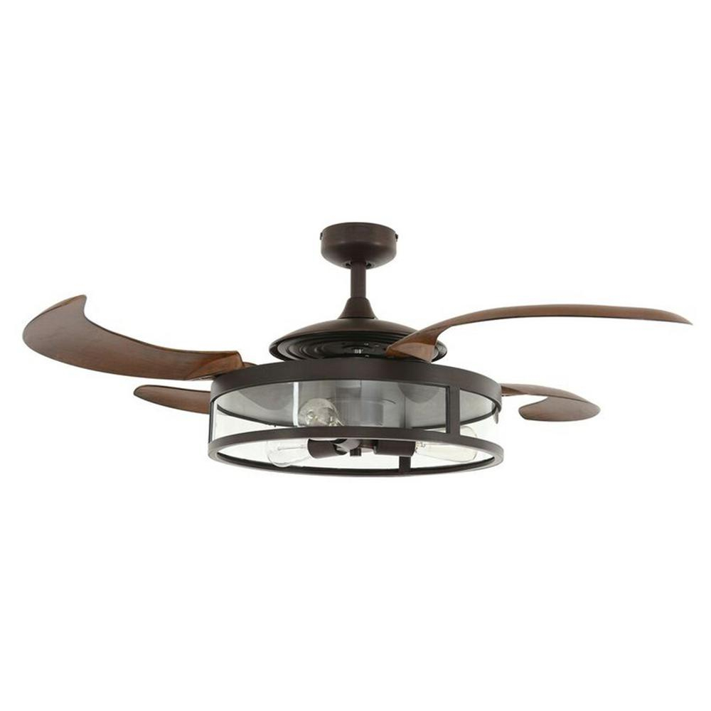 Servantes Retractable 4 Blade Ceiling Fans With Remote With Latest Fanaway Classic Indoor Chrome And Clear Retractable 4 Blade 48 In (View 18 of 20)
