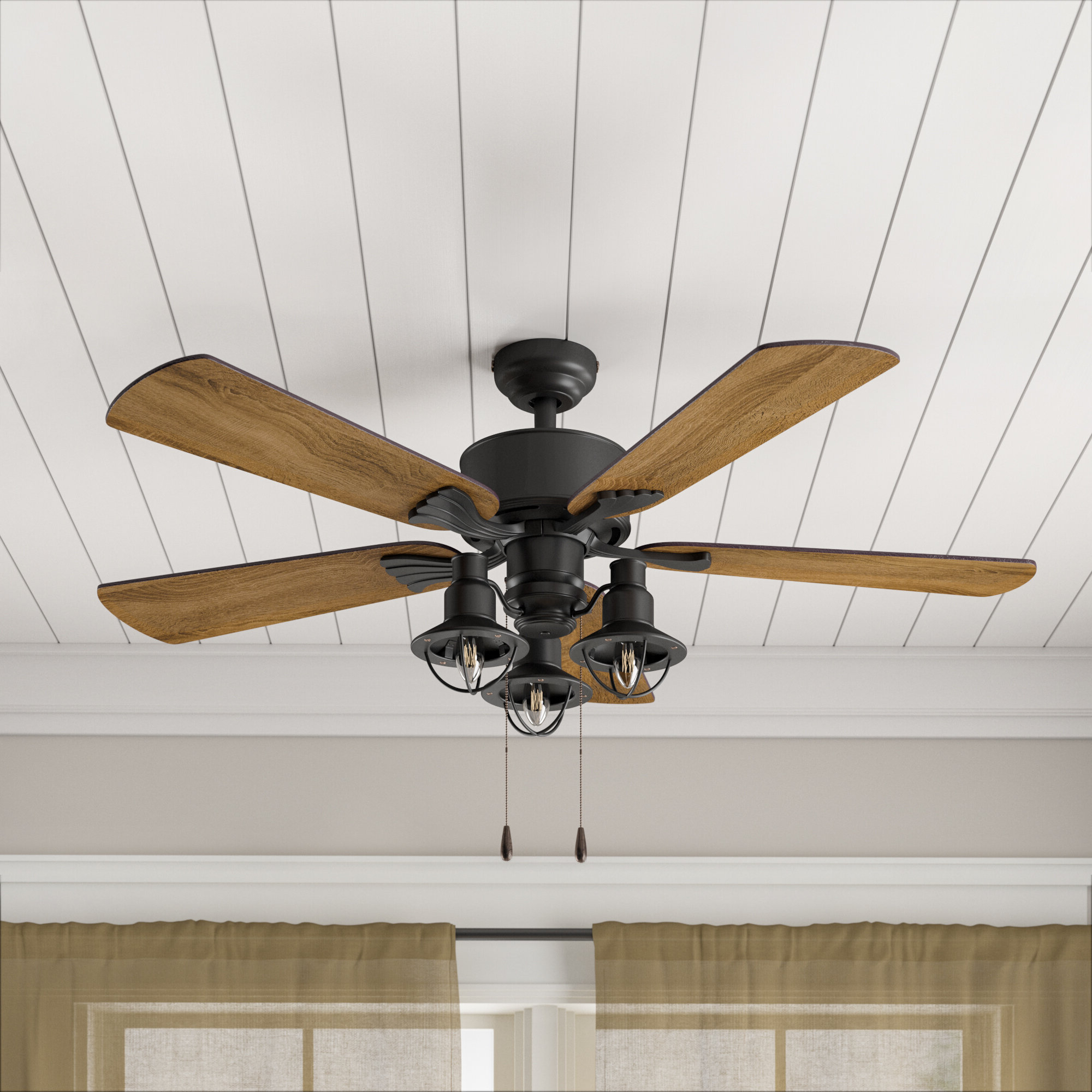 """Sheyla 5 Blade Led Ceiling Fans Intended For Most Popular 52"""" Ratcliffe 5 Blade Led Ceiling Fan, Light Kit Included (View 16 of 20)"""