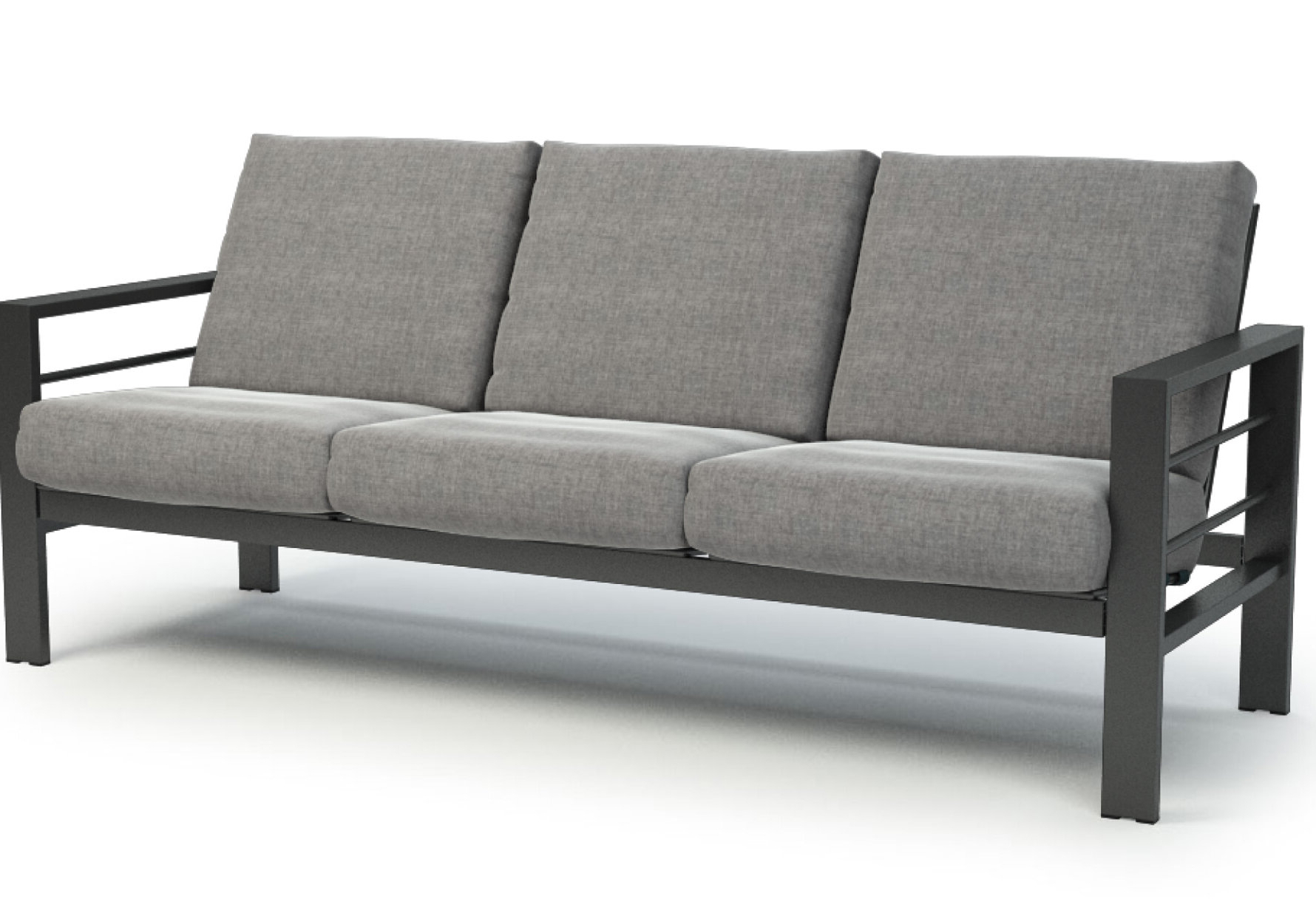 Shufelt Low Back Patio Sofa With Sunbrella Cushions For Well Known Furst Patio Sofas With Cushion (View 16 of 20)