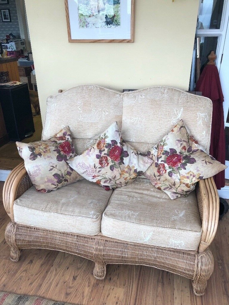 Silloth Patio Sofas With Cushions With Best And Newest Two Seater Settee, 2 Armchairs Complete With Matching Coffee Table (View 16 of 20)