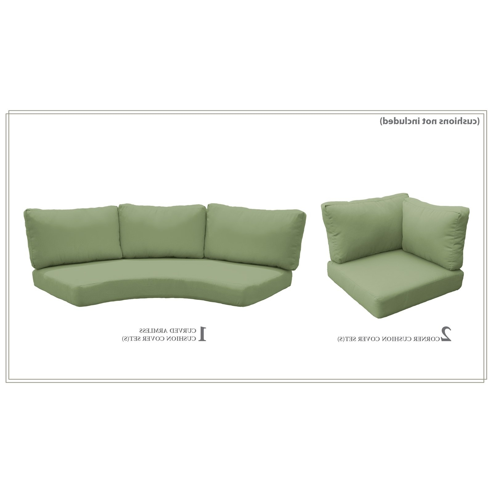 Sol 72 Outdoor Waterbury Indoor/outdoor Cushion Cover Set Regarding Well Liked Waterbury Curved Armless Sofa With Cushions (View 12 of 20)