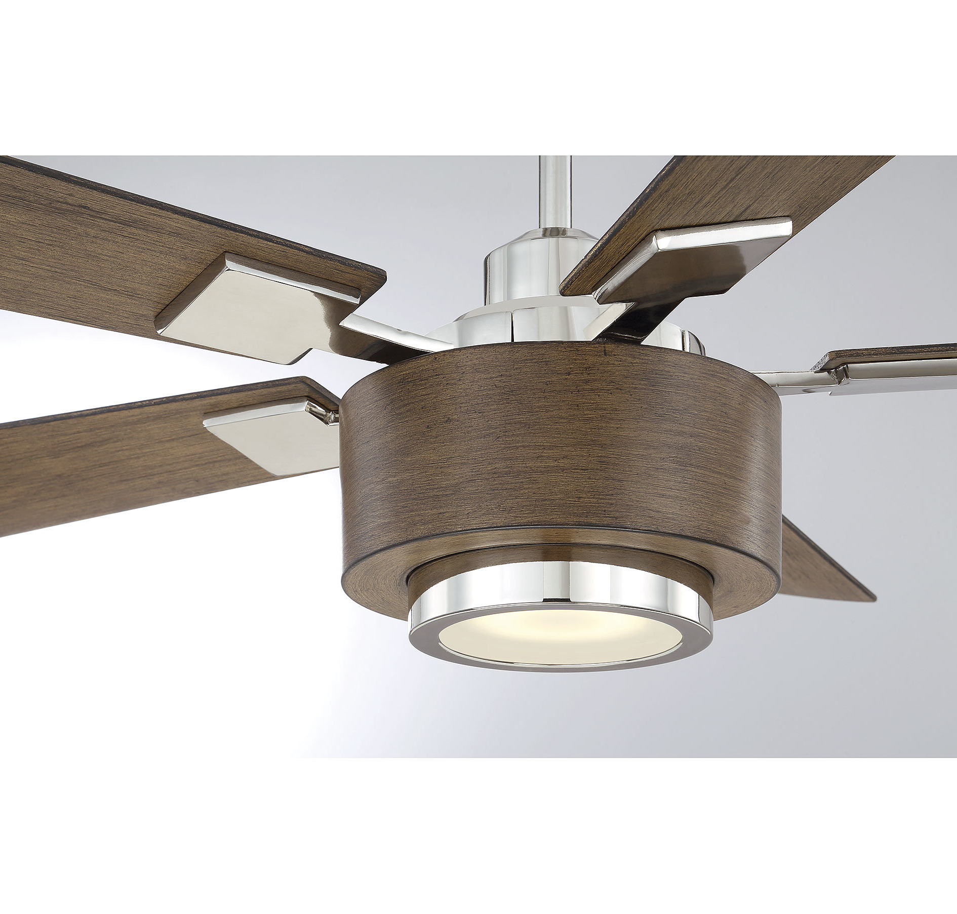 "St George 52"" Winchester 5 Blade Led Ceiling Fan With Remote In Recent Bennett 5 Blade Ceiling Fans With Remote (View 11 of 20)"