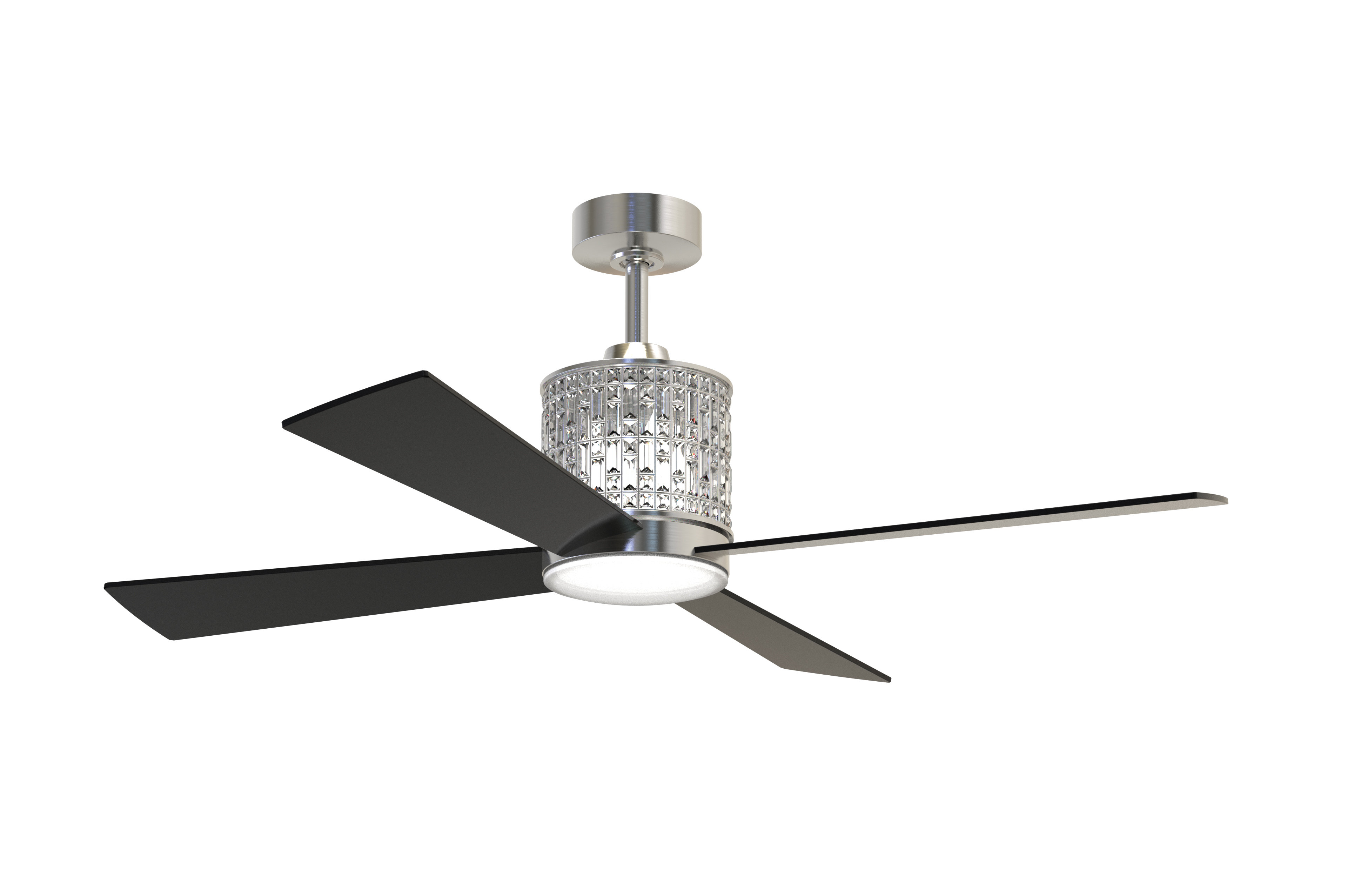 "Stewardson 4 Blade Ceiling Fans Inside Most Current Rosdorf Park 52"" Bodella 4 Blade Ceiling Fan With Remote (View 12 of 20)"