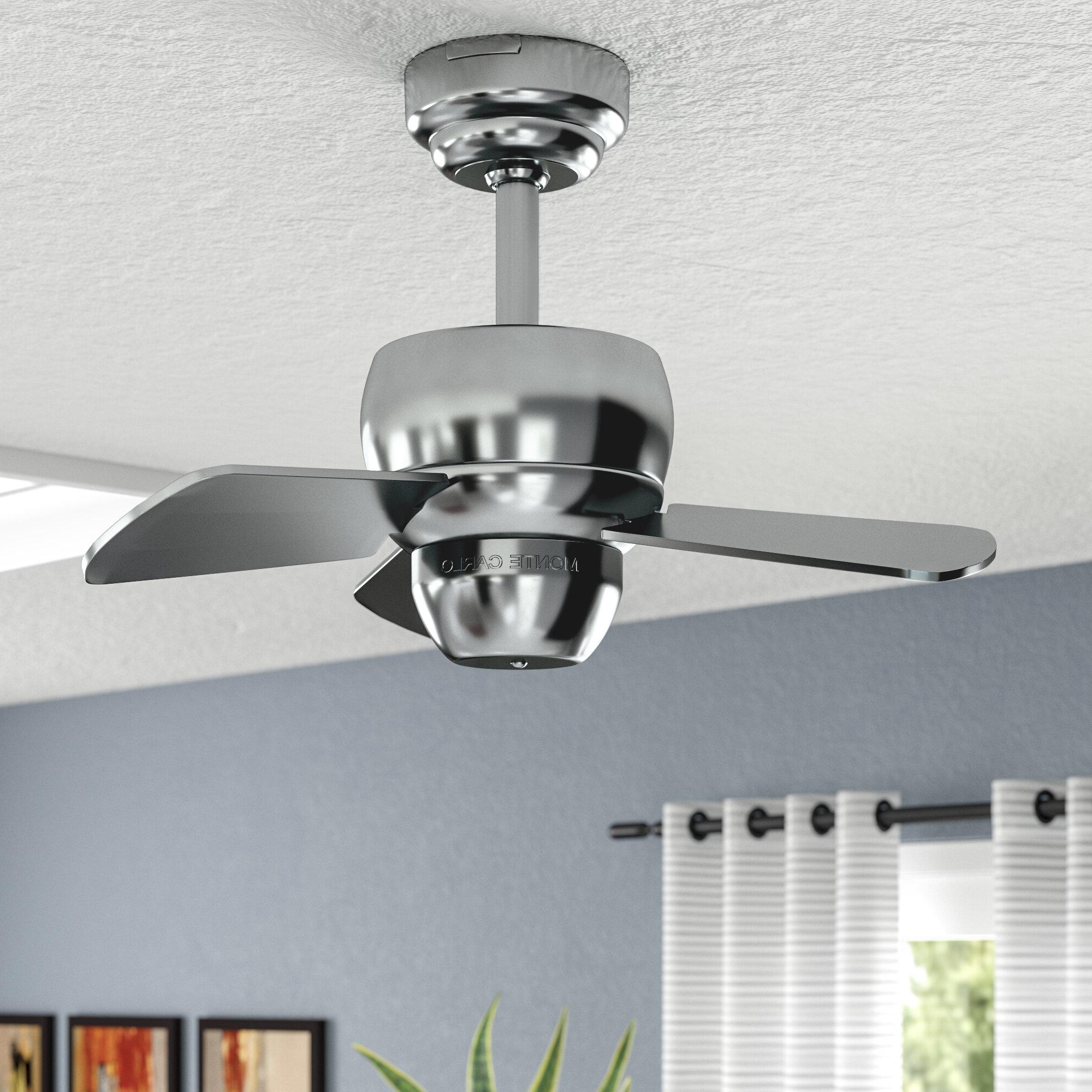"Stewardson 4 Blade Ceiling Fans Regarding Recent 24"" Thatcher 3 Blade Ceiling Fan (View 9 of 20)"