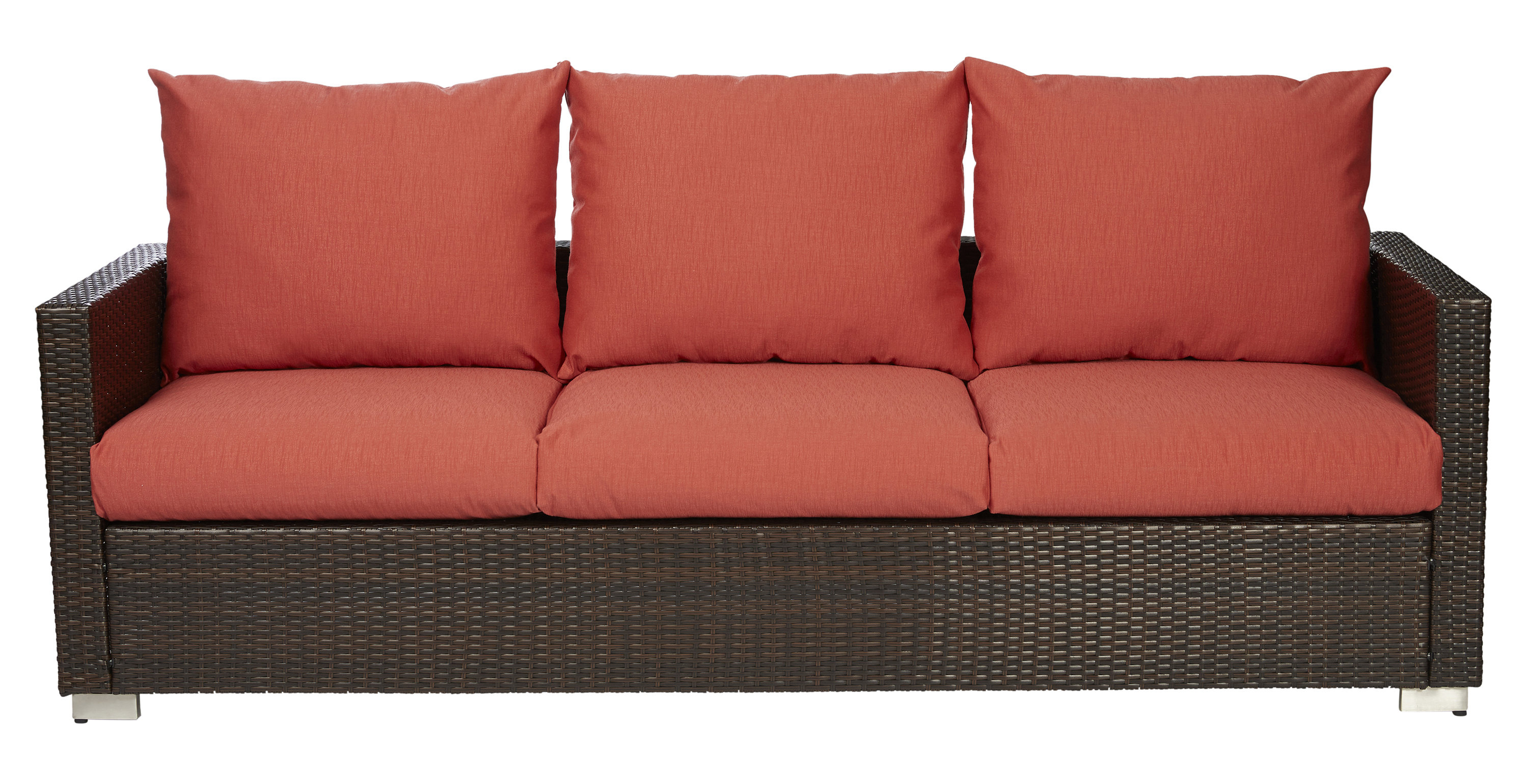 Stockwell Patio Sofas With Cushions Inside 2020 Mcmanis Patio Sofa With Cushion (View 12 of 20)