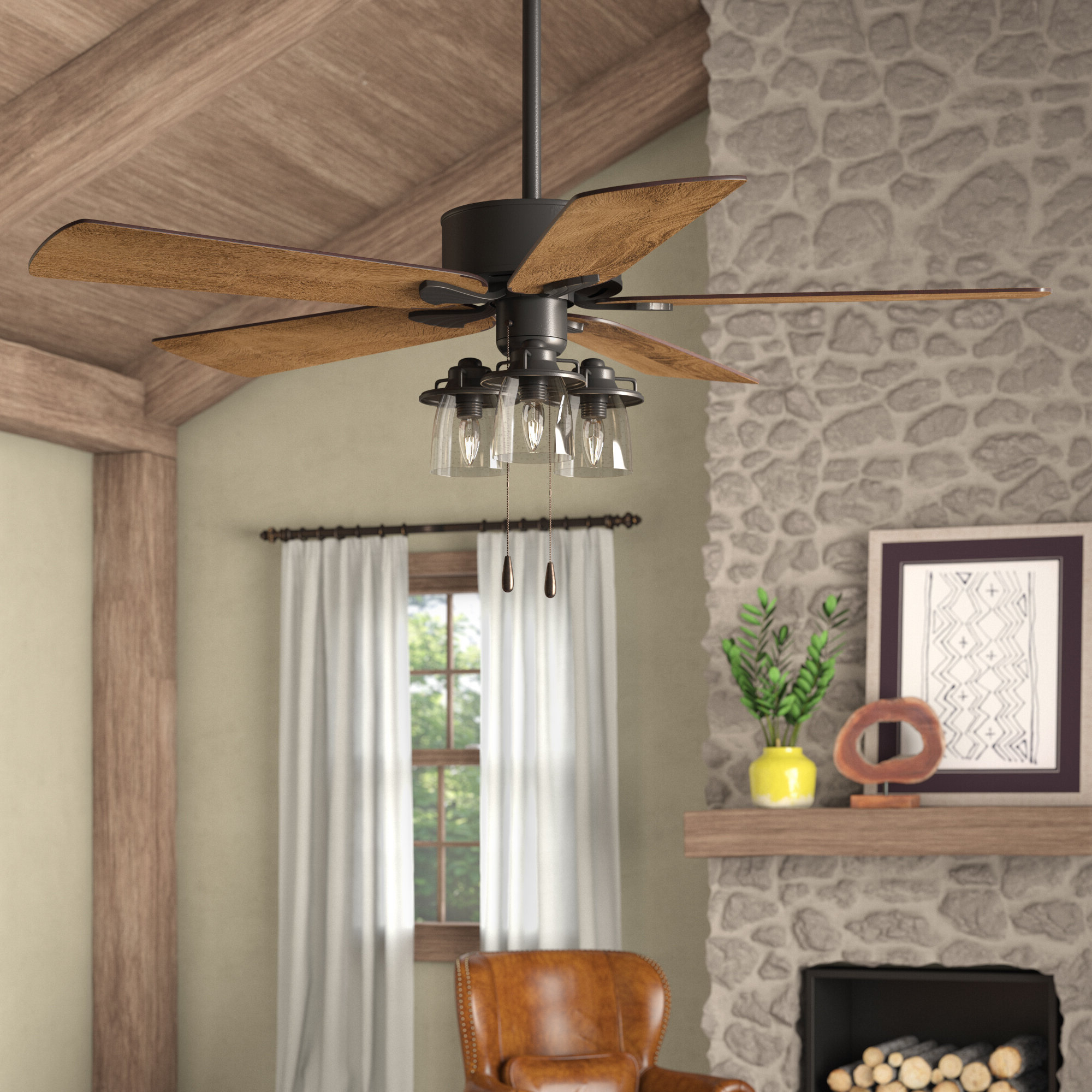 """Sudie 5 Blade Led Ceiling Fans Pertaining To Newest 52"""" Sheyla 5 Blade Led Ceiling Fan, Light Kit Included (View 17 of 20)"""