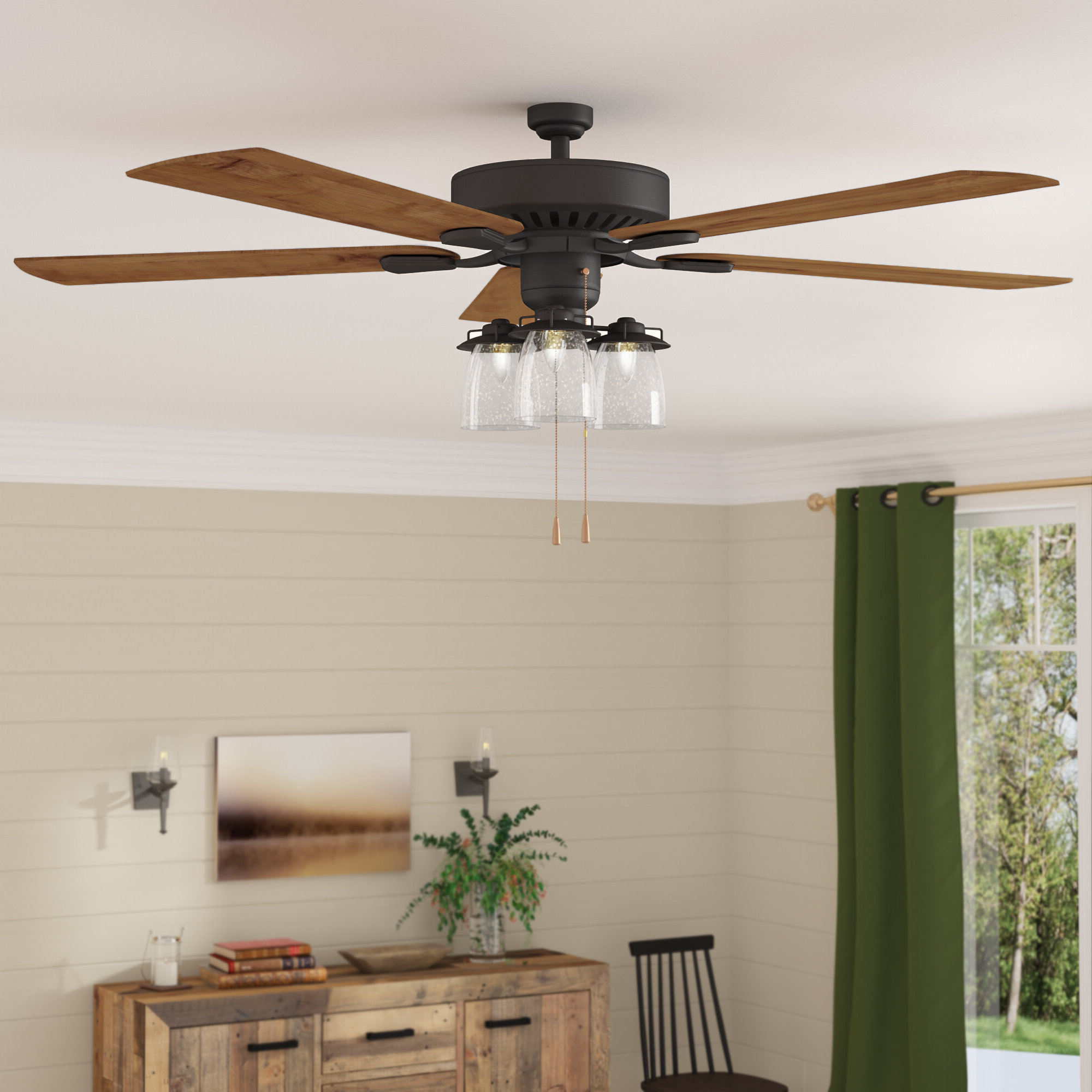 """Sudie 5 Blade Led Ceiling Fans With Most Up To Date Three Posts 52"""" Sudie 5 Blade Led Ceiling Fan (View 19 of 20)"""