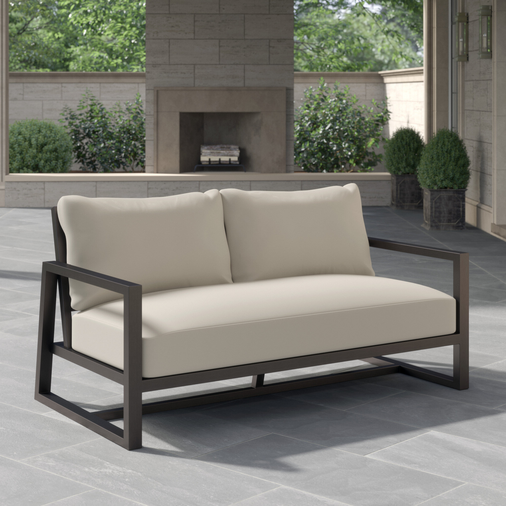 Sylvania Outdoor Loveseats Intended For Trendy Summer Classics Avondale Loveseat With Cushions (View 9 of 20)