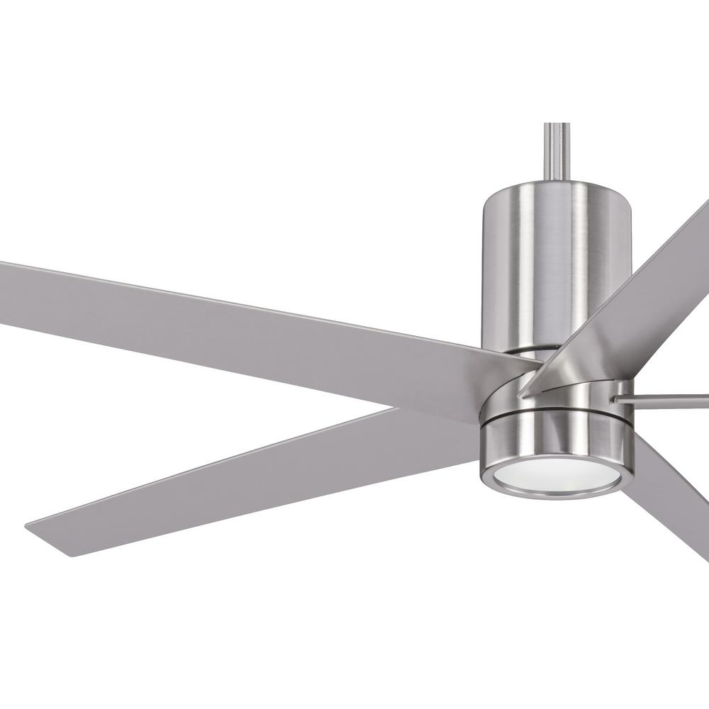 Symbio 5 Blade Led Ceiling Fans Within 2019 Minka Aire Symbio 56 In (View 16 of 20)