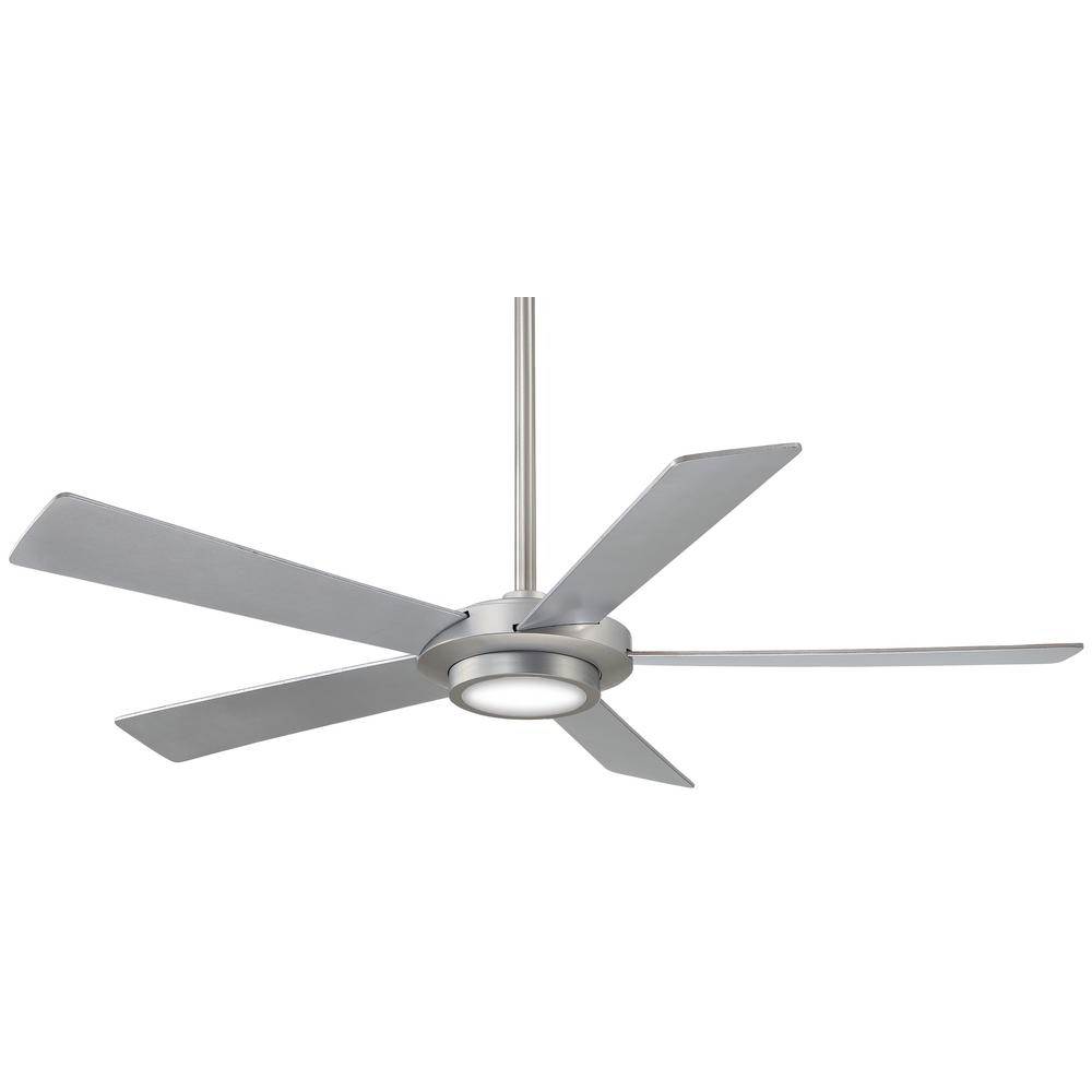 Symbio 5 Blade Led Ceiling Fans Within Favorite Minka Aire Sabot 52 In (View 17 of 20)