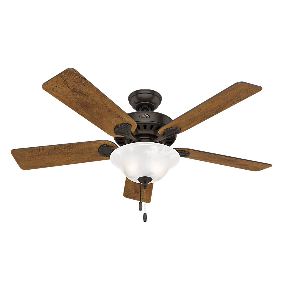 "The Kensington 5 Blade Ceiling Fans Inside Well Liked 52"" Buchanan 5 Blade Ceiling Fan With Light (View 10 of 20)"